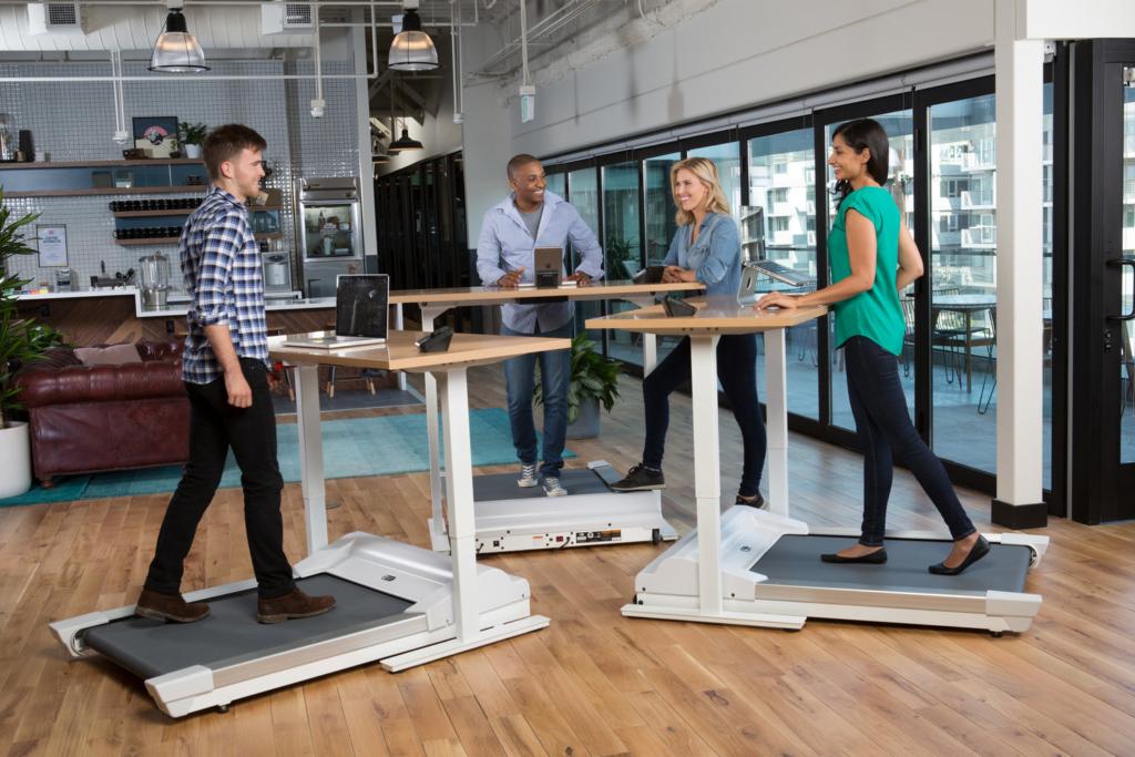 Treadmill desk health-promoting future of work