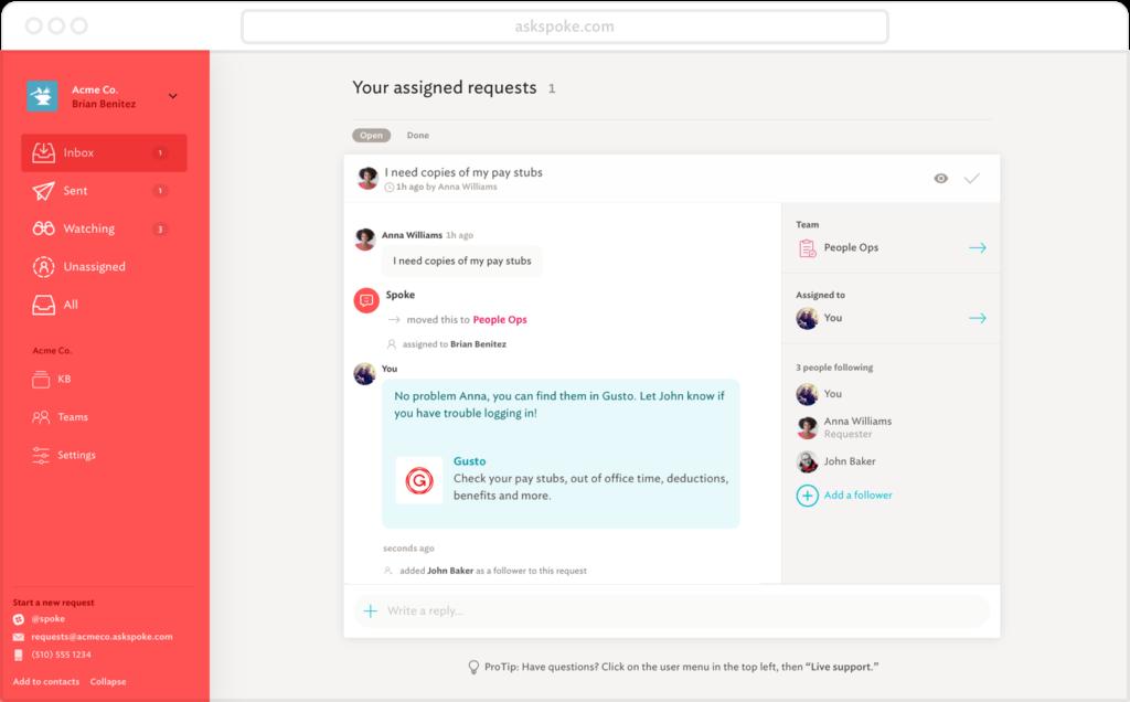 Spoke digital workplace tool future of work
