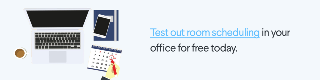 Pods room scheduling free trial