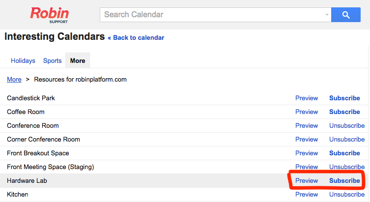 Subscribe to add the resource calendar