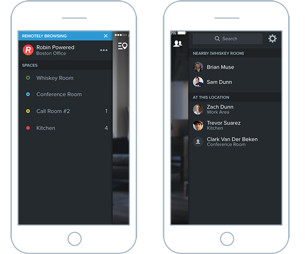 People and place sidebars in Robin mobile app for iOS