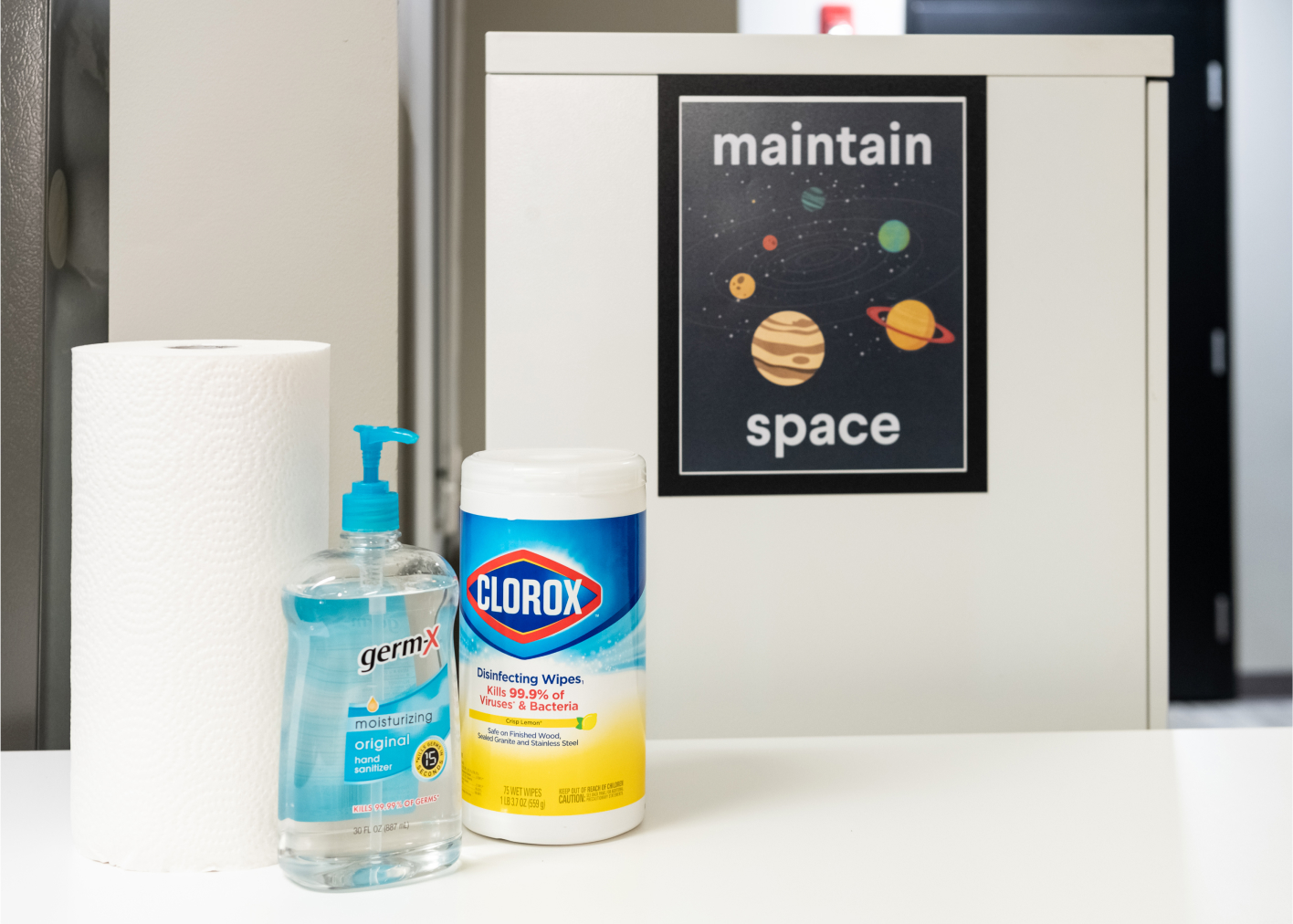 clorox wipes, safety items, picture of both