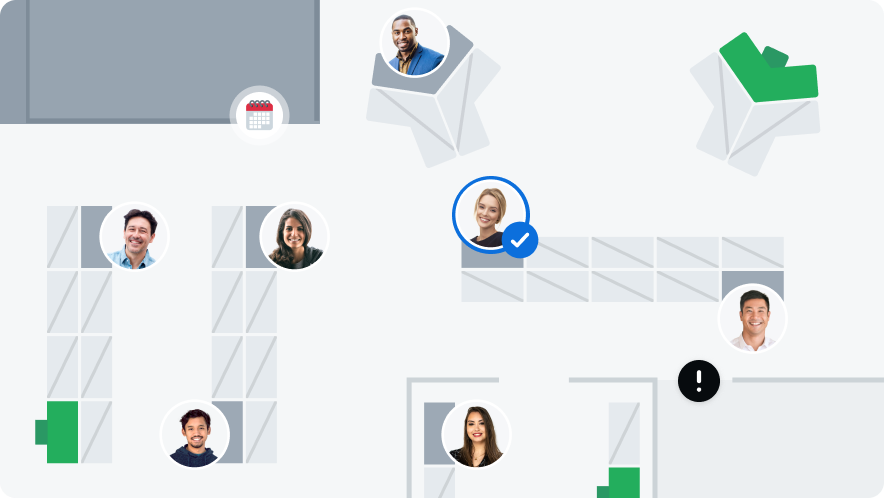 Office map with avatars