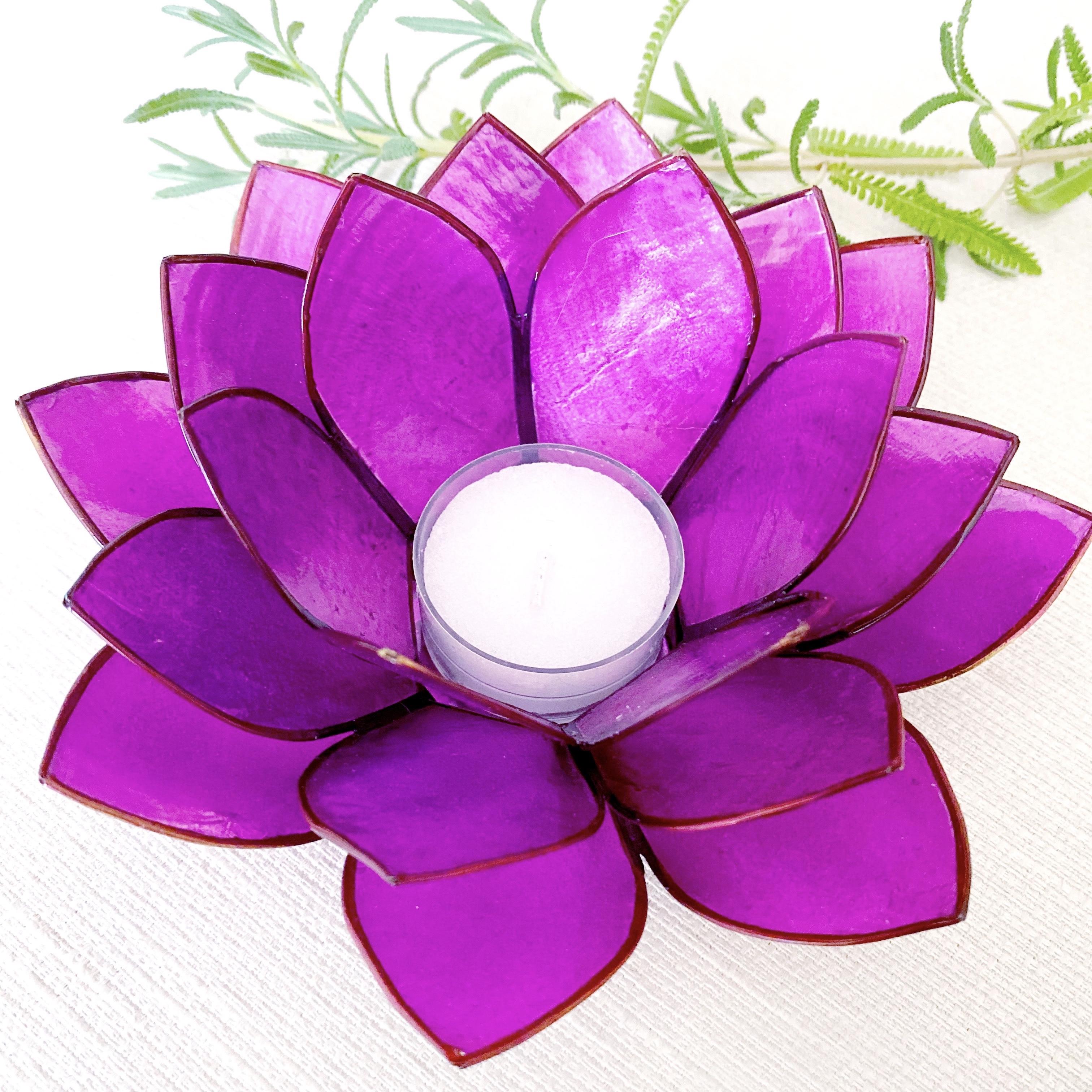 Purple Capiz Tealight Holder