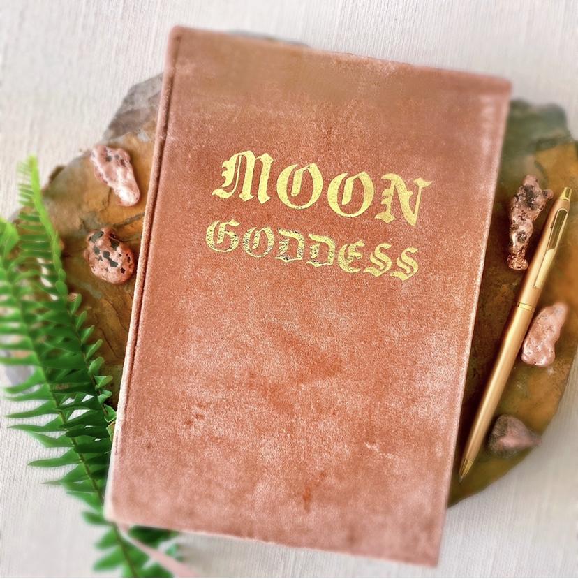 Moon Goddess Velvet Journal