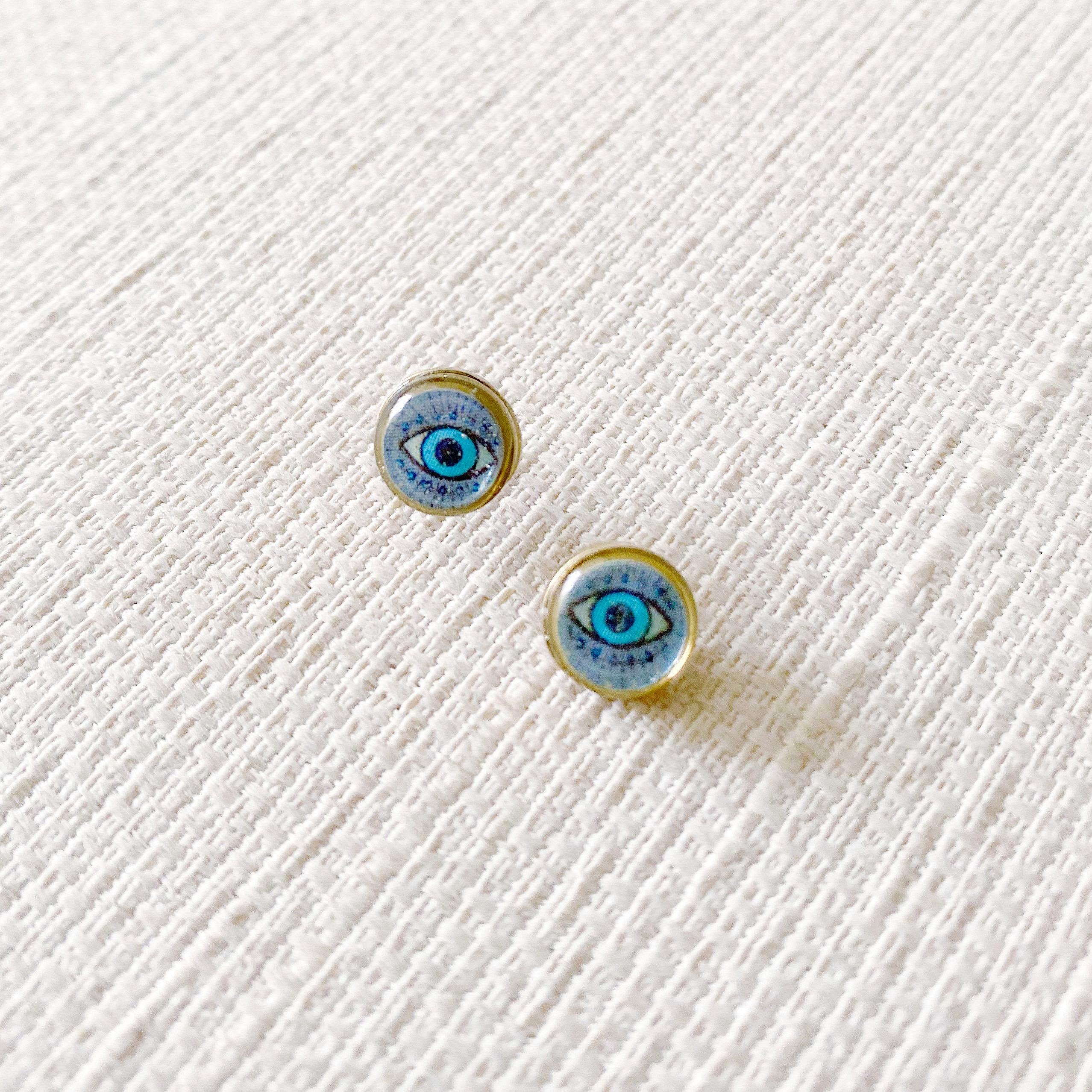 Tiny Stud Earrings | Deco Eye