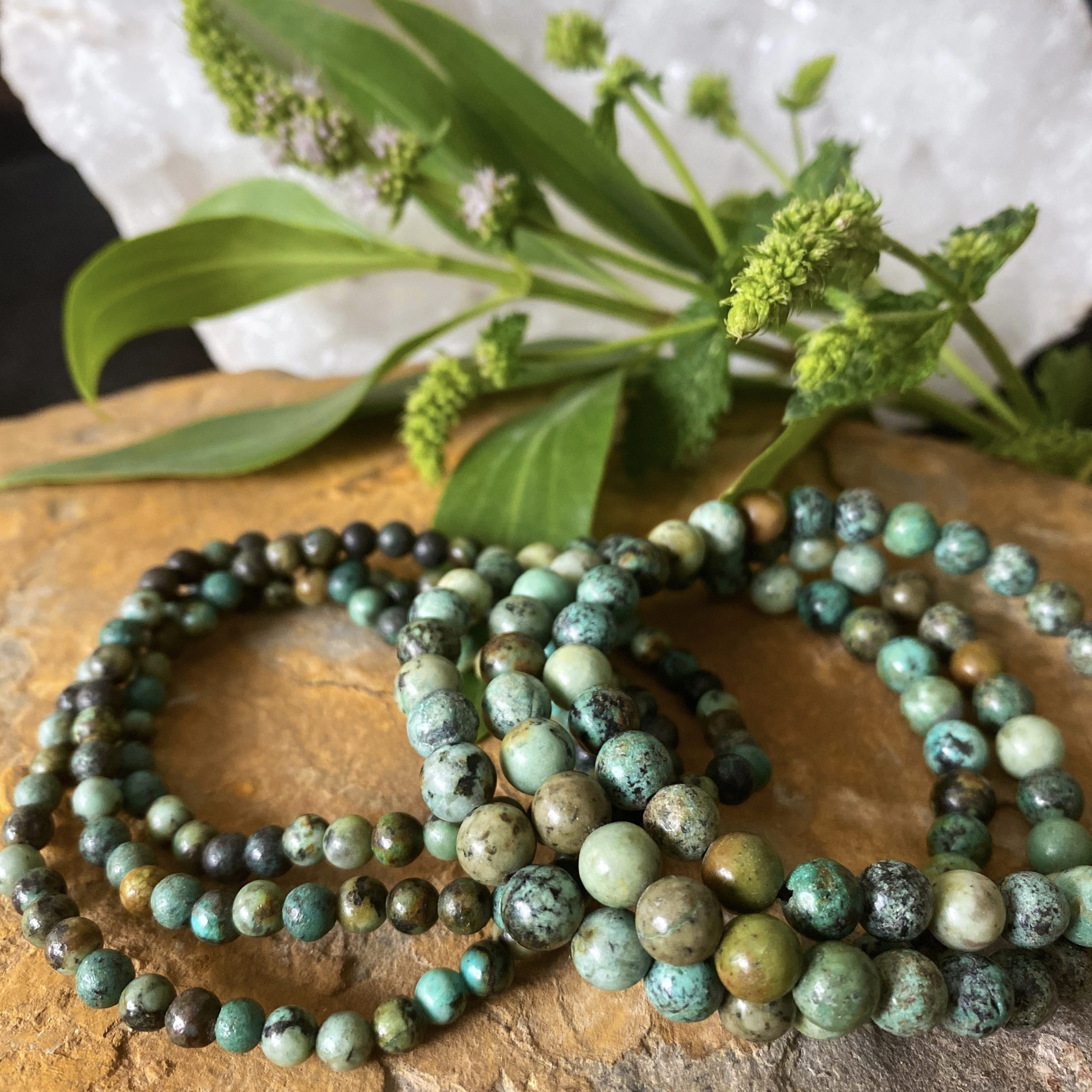 African Turquoise Jasper | Connecting