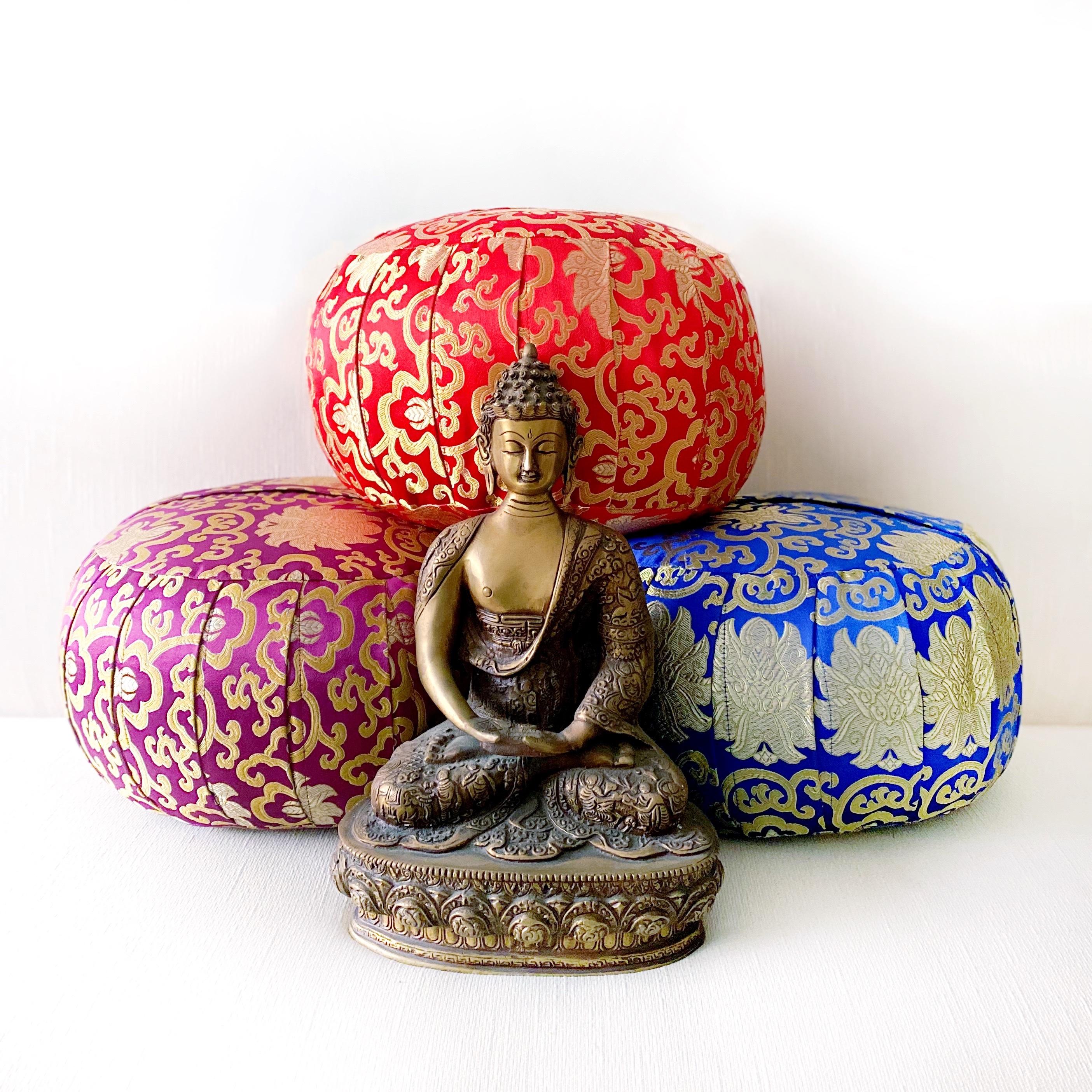 Brocade Meditation Cushions