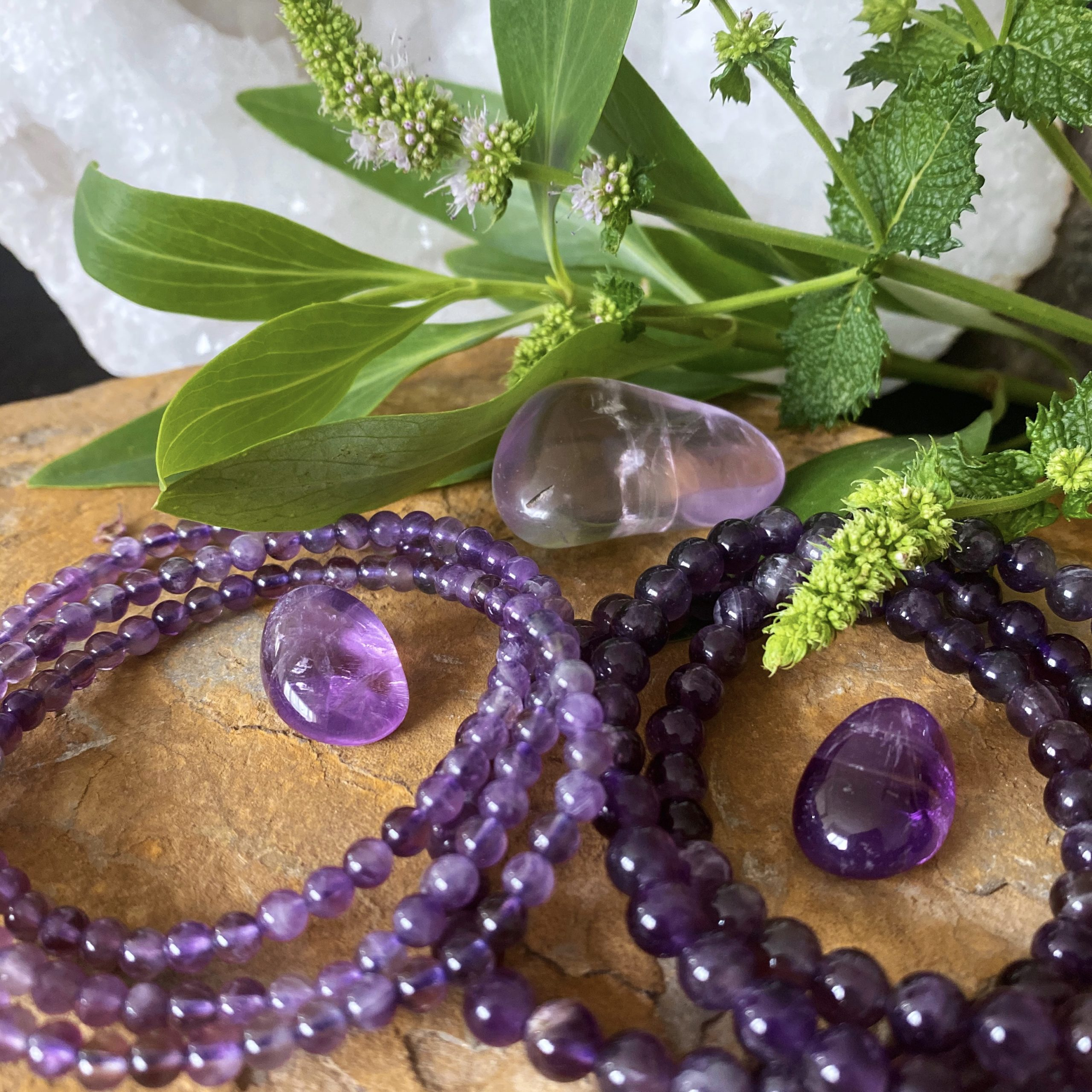 amethyst crystal bracelets spirit intuition dream serenity love | Paradise Found Santa Barbara