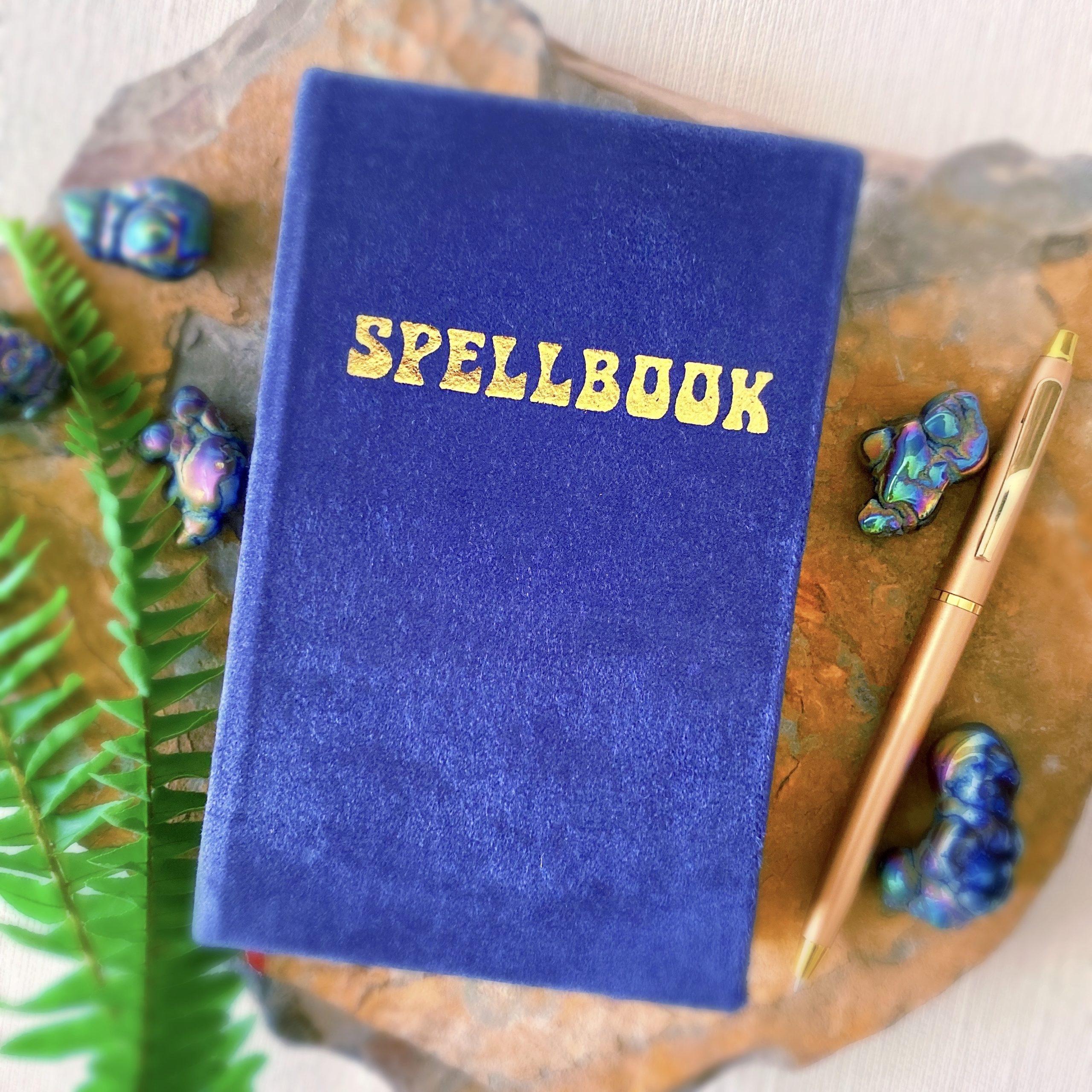Petite Navy Velvet Spellbook