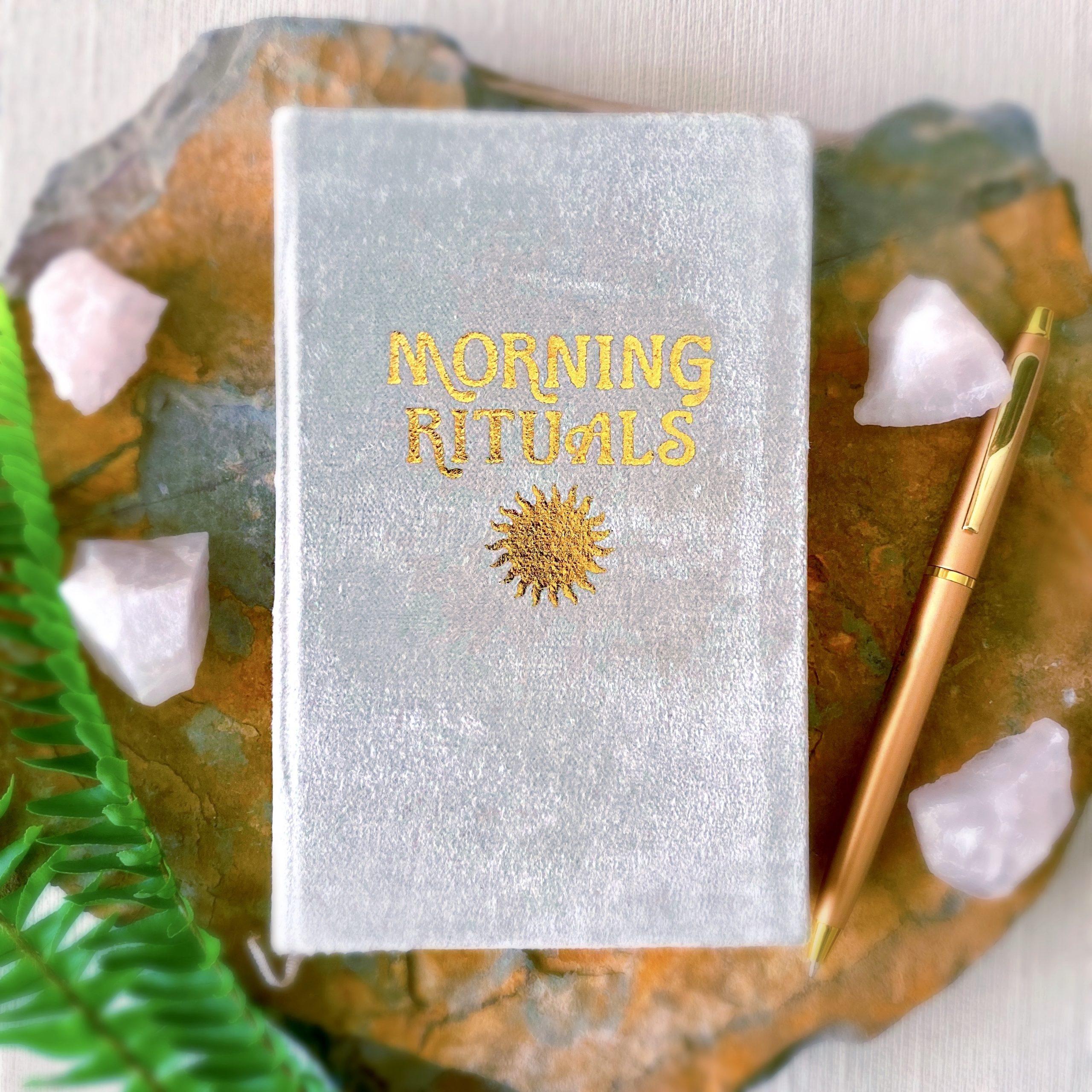 Morning Rituals Velvet Guided Journal