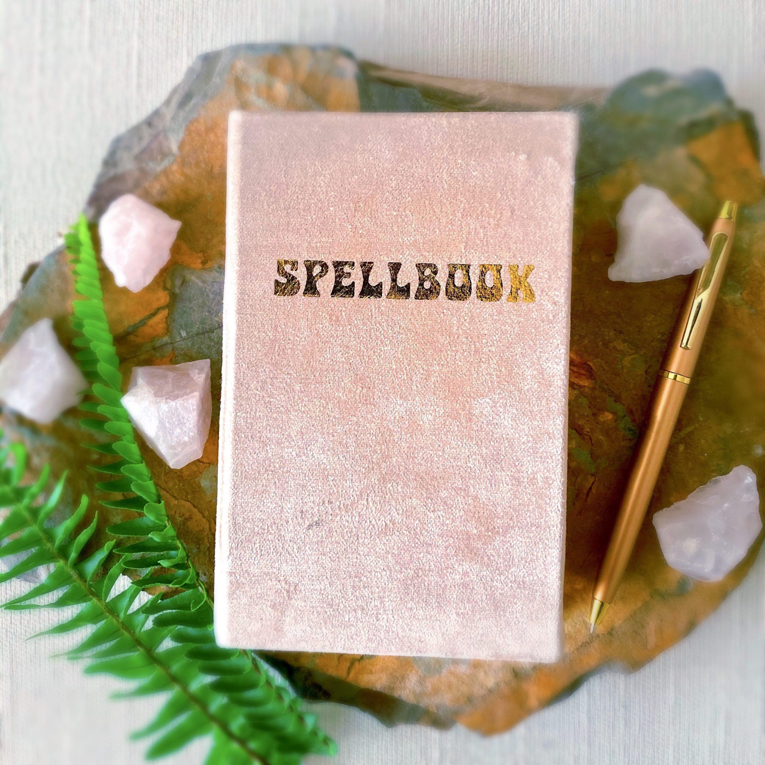 Petite Pink Velvet Spellbook