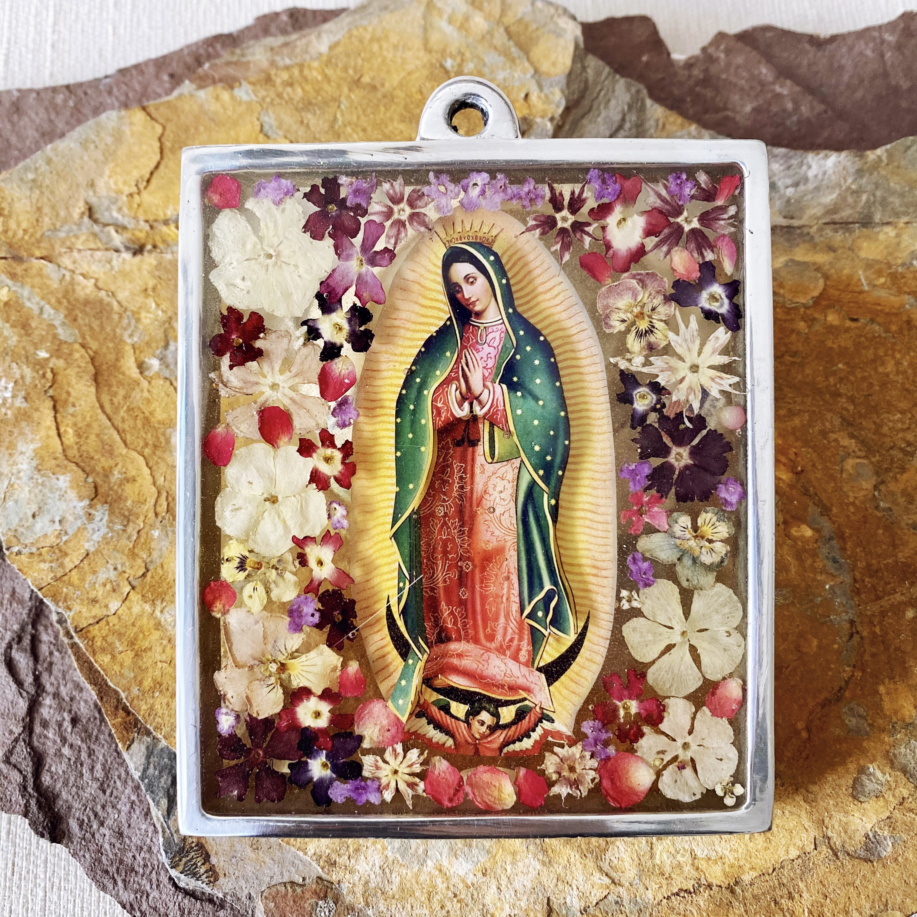Floral Guadalupe Wall Art
