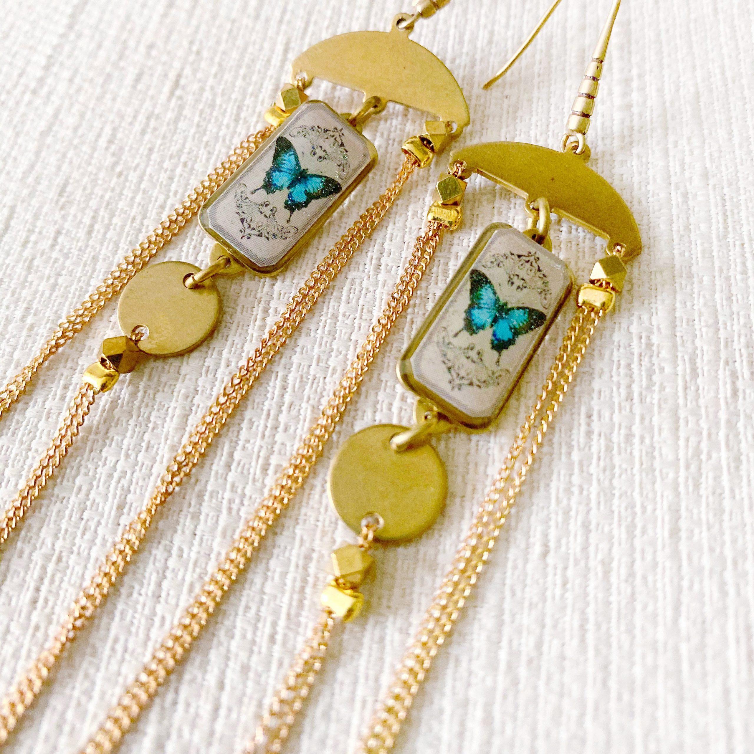 Erte Butterfly Earrings
