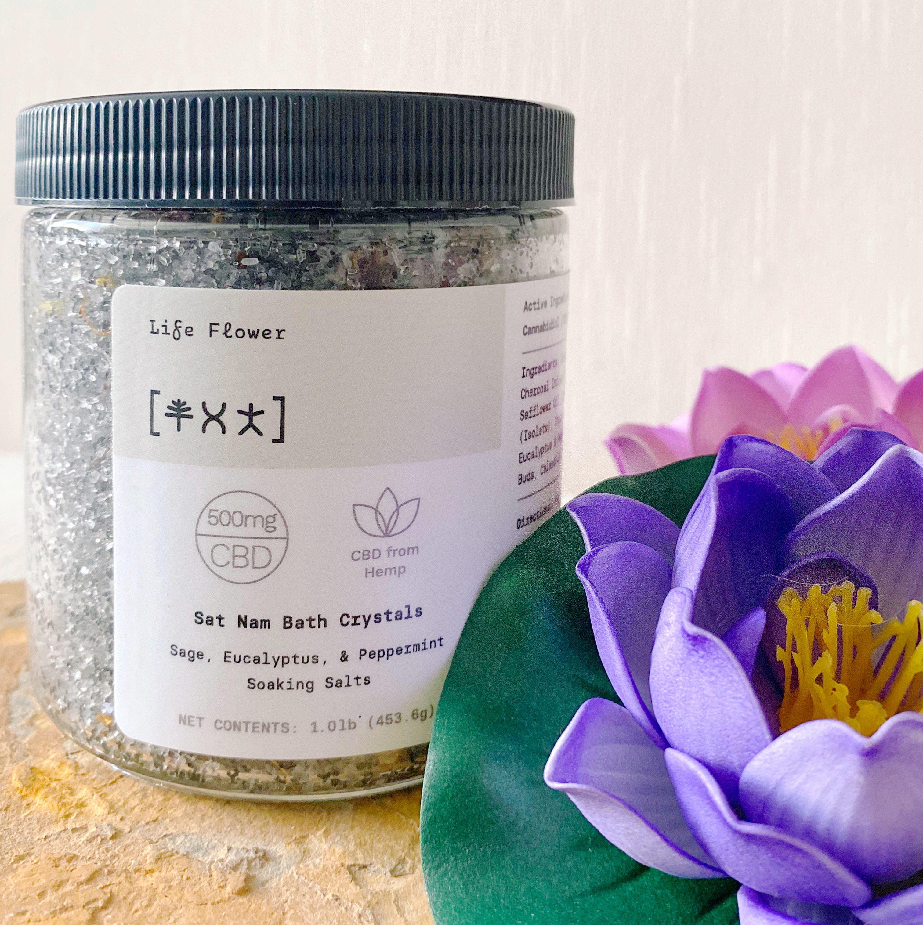Sat Nam Bath Crystals | Sage, Eucalyptus, Peppermint