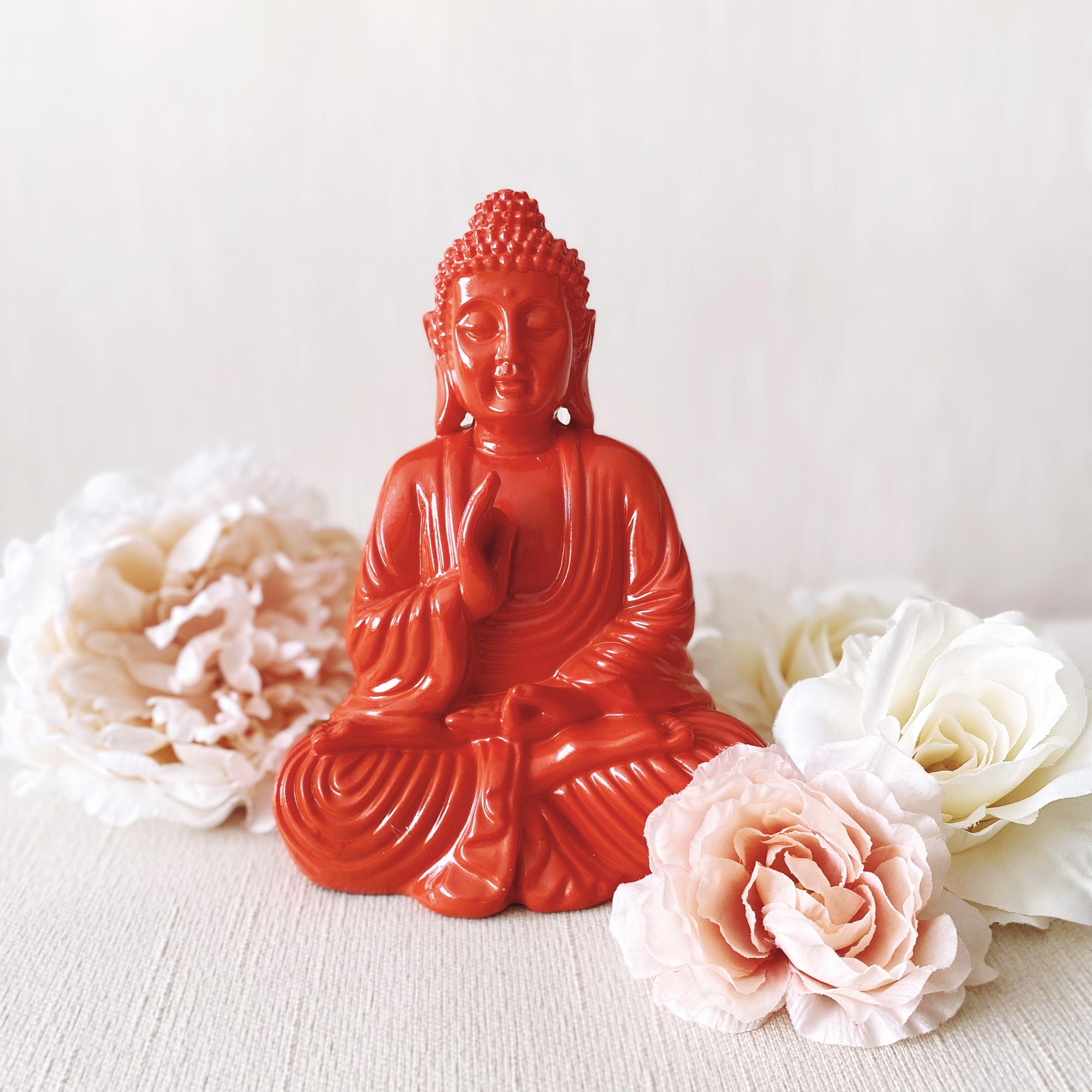 Orange Buddha Statue
