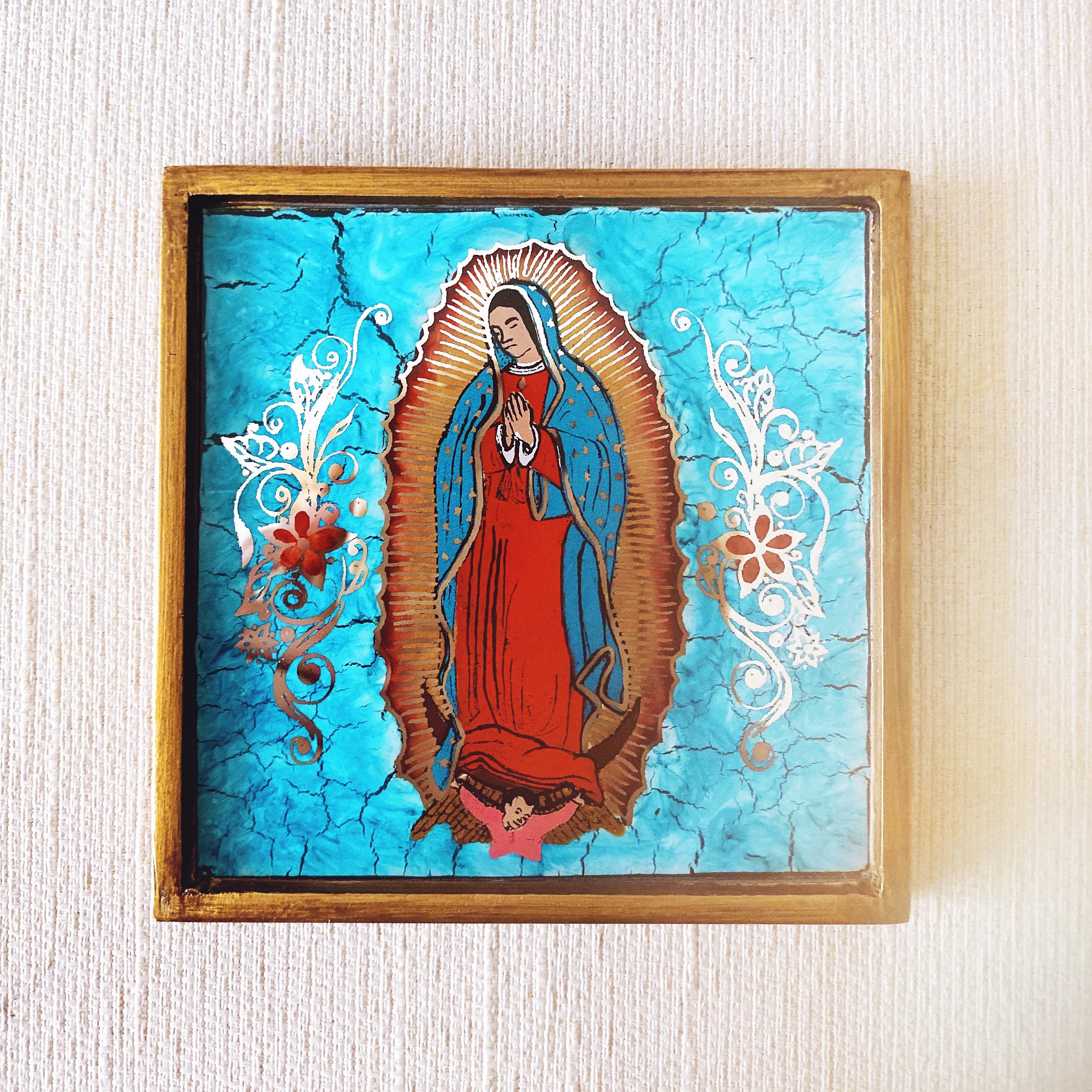Virgen de Guadalupe Wall Art | Turquoise