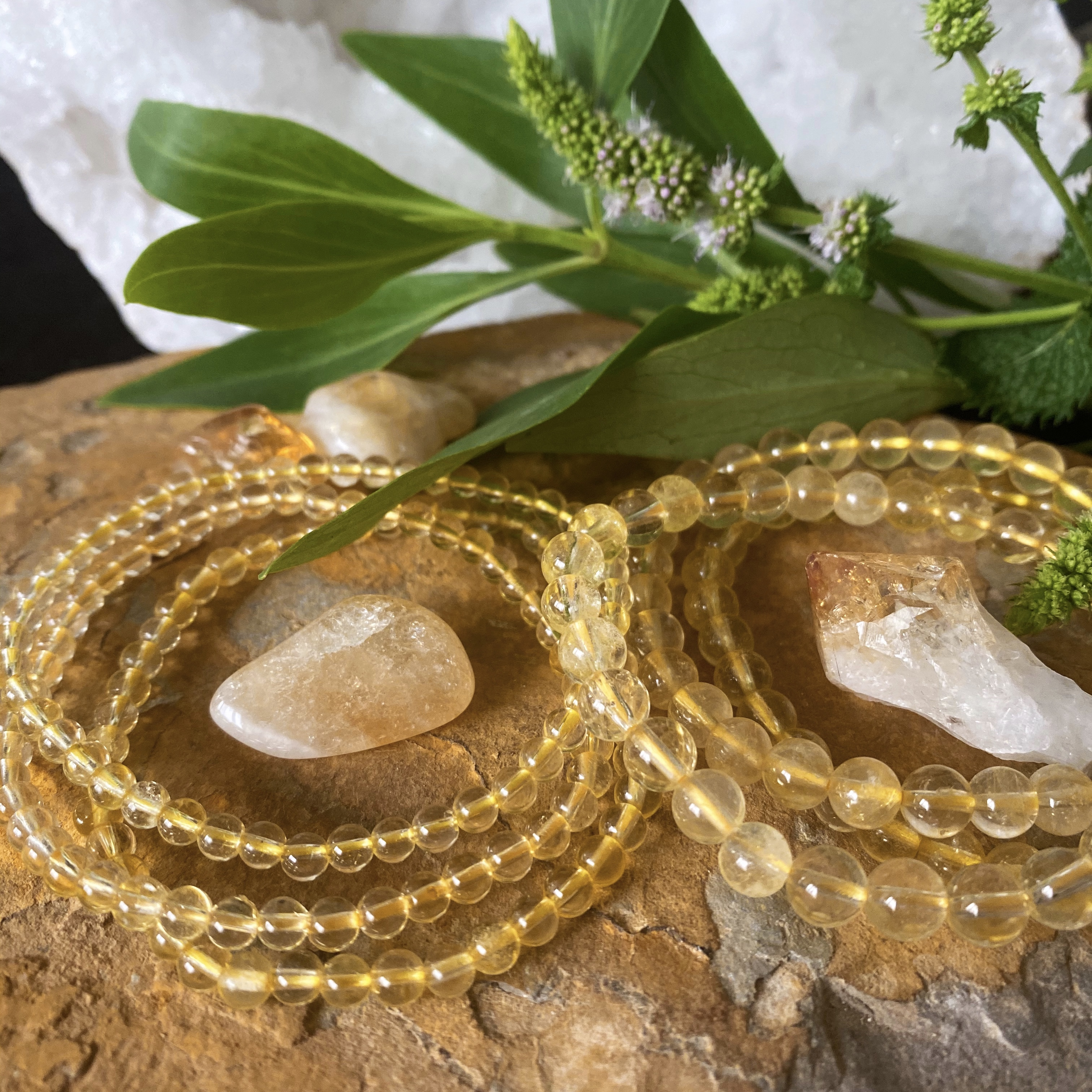 citrine power mini crystal energetic bracelet | paradise found santa barbara