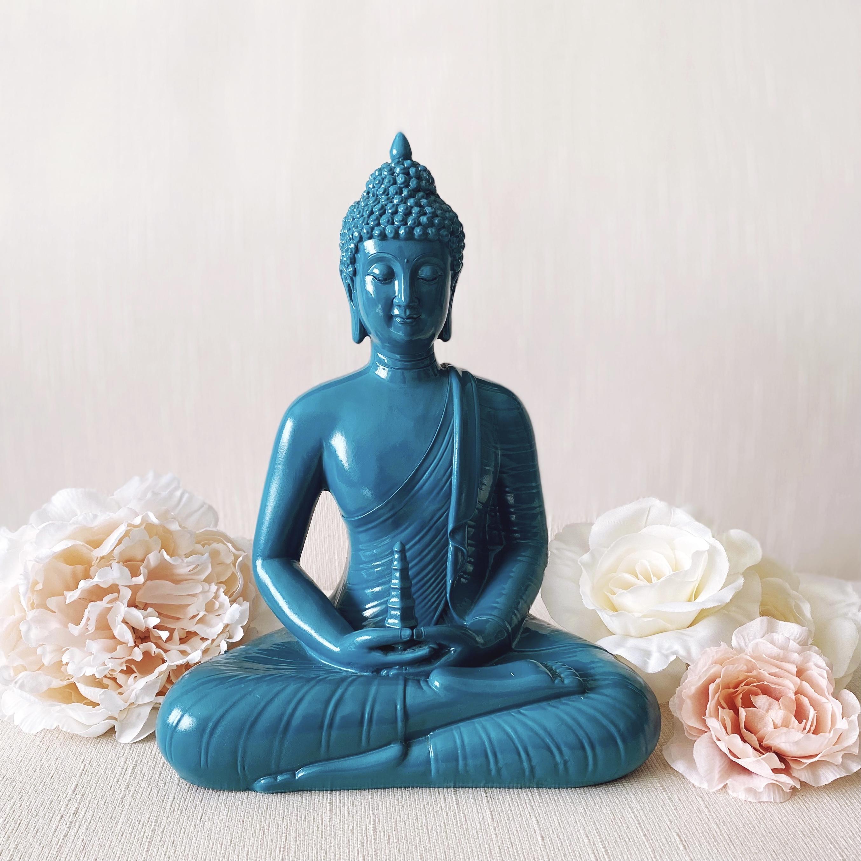 Tall Blue Buddha statue