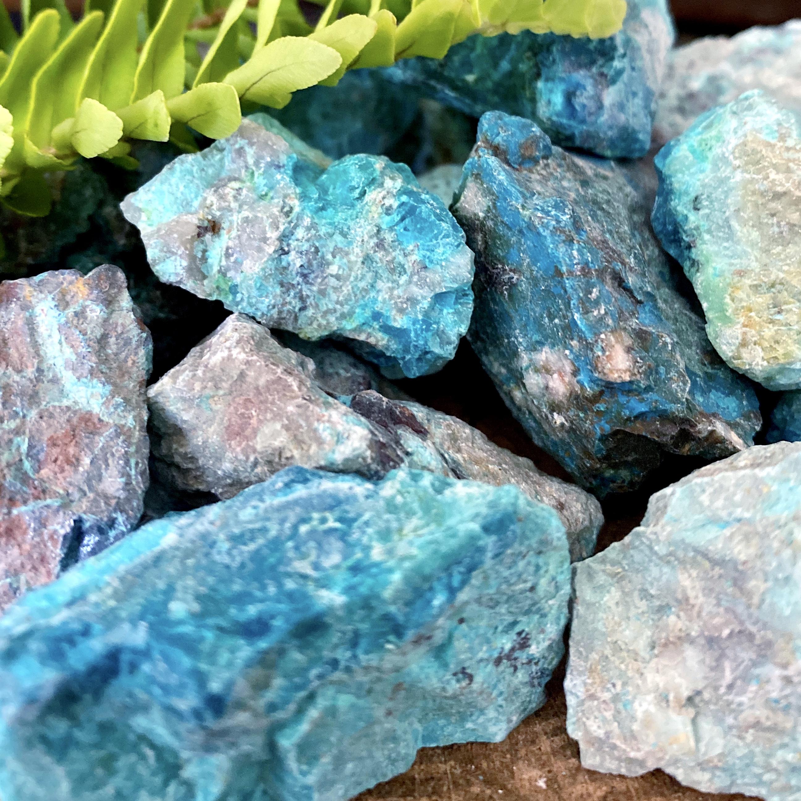 chrysocolla crystals for the full moon in virgo | paradise found santa barbara