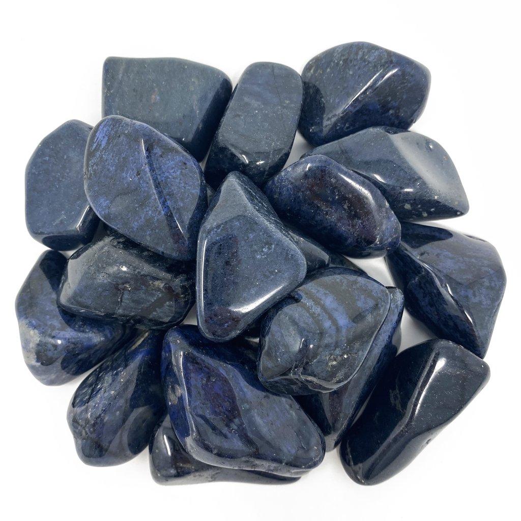 dumortierite crystals tumbled stones   paradise found santa barbara