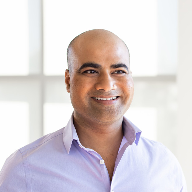 Personal AI CEO and founder, Suman Kanuganti. He is passionate about creating technology with human values.