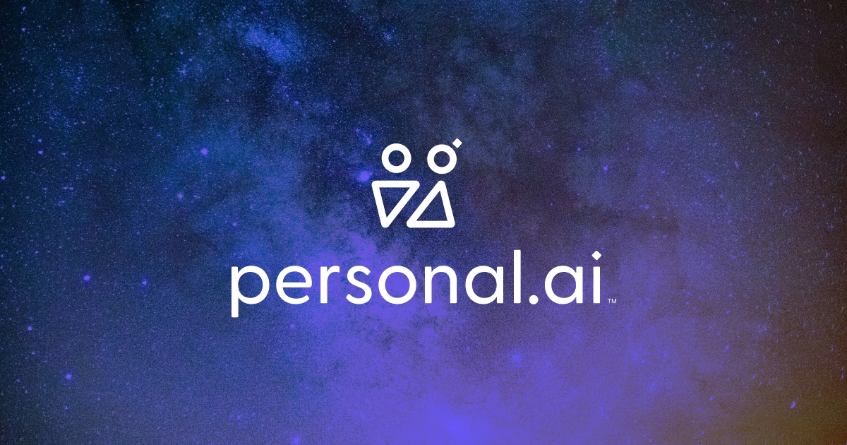 Stary sky background with Personal AI logo on top
