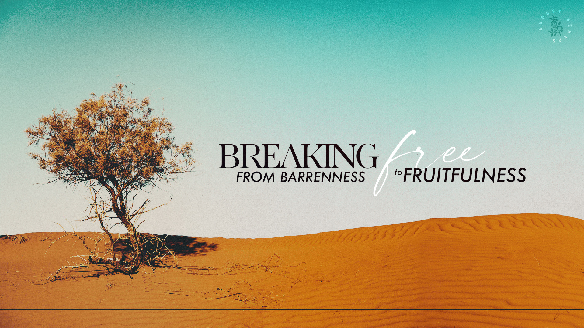 Current Teaching Series: Breaking Free—From Barrenness to Fruitfulness