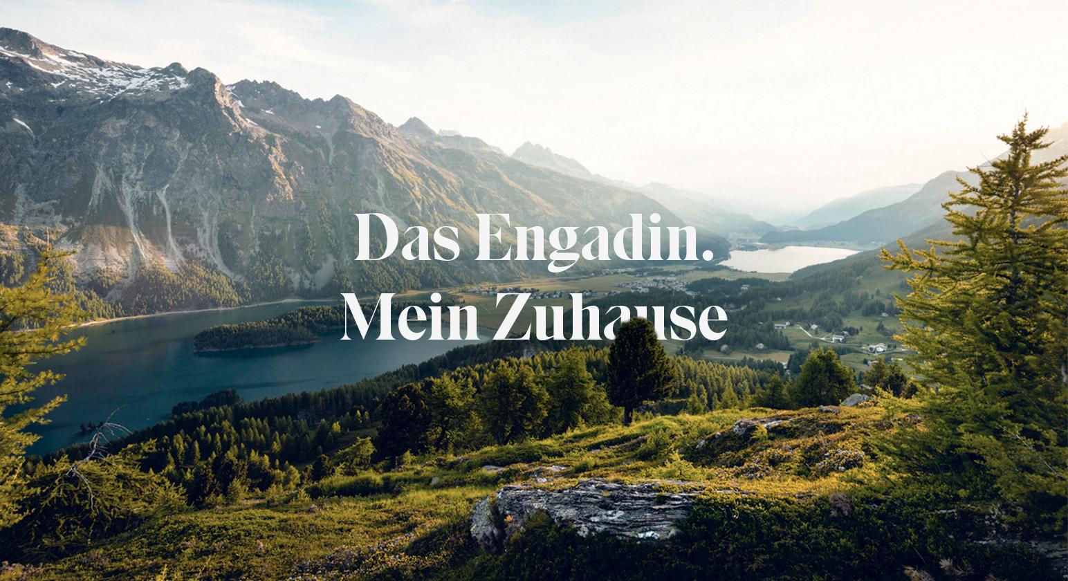 Aussicht auf Landschaft des Engandins