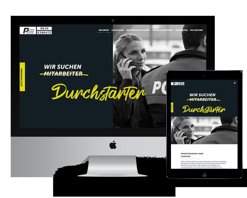Website Kantonspolizei Solothurn