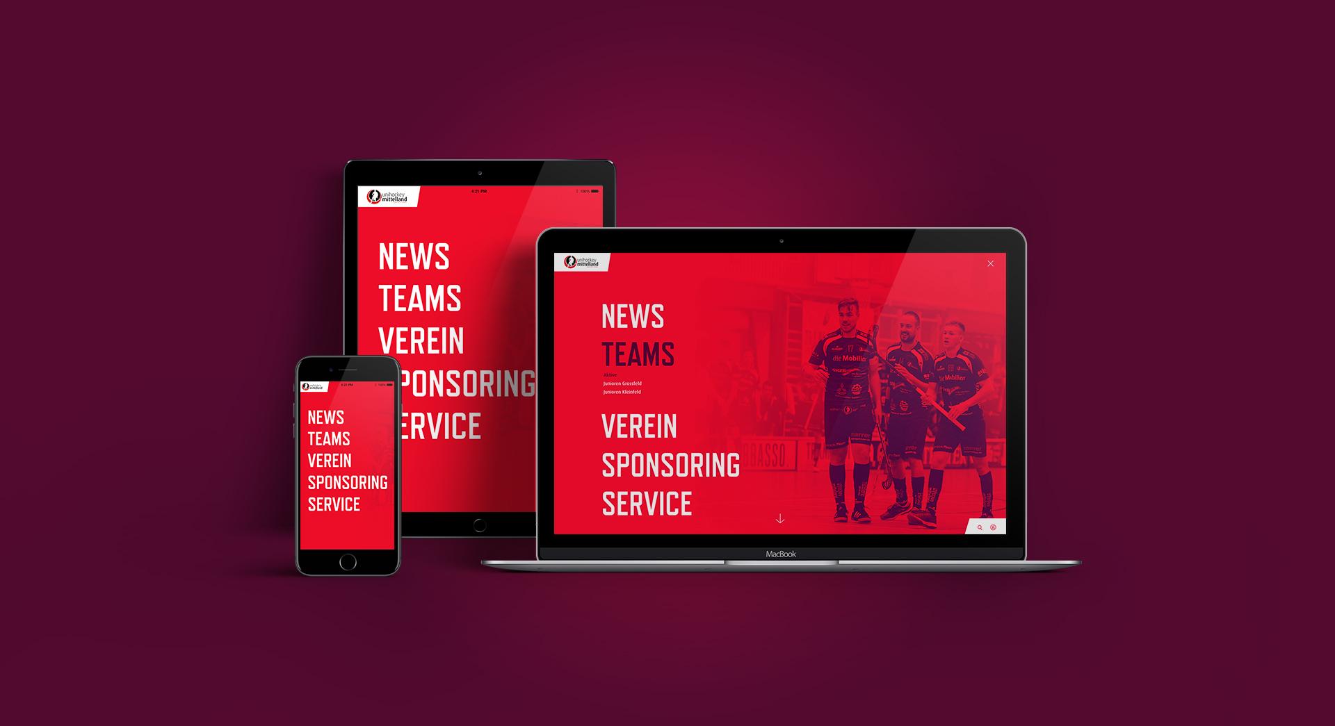 Website auf Macbook, iPad und Smartphone