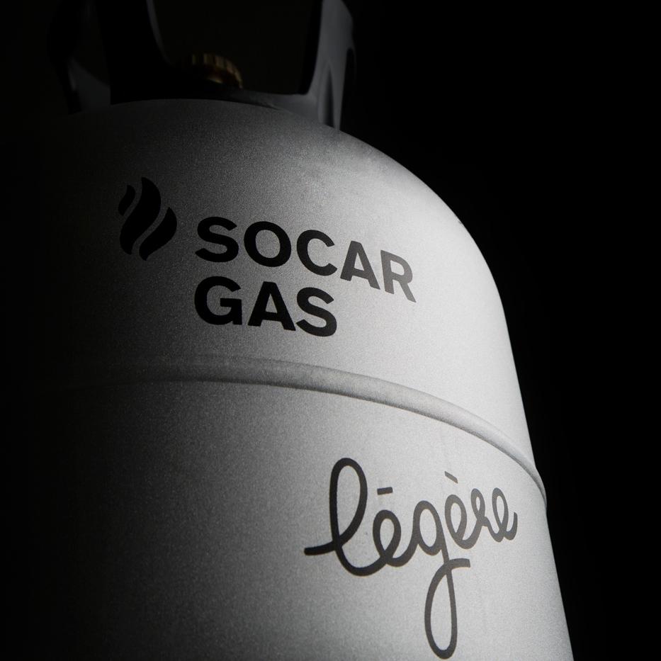 Logo auf Gasflasche