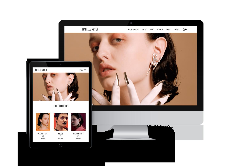 Website auf iMac und Smartphone
