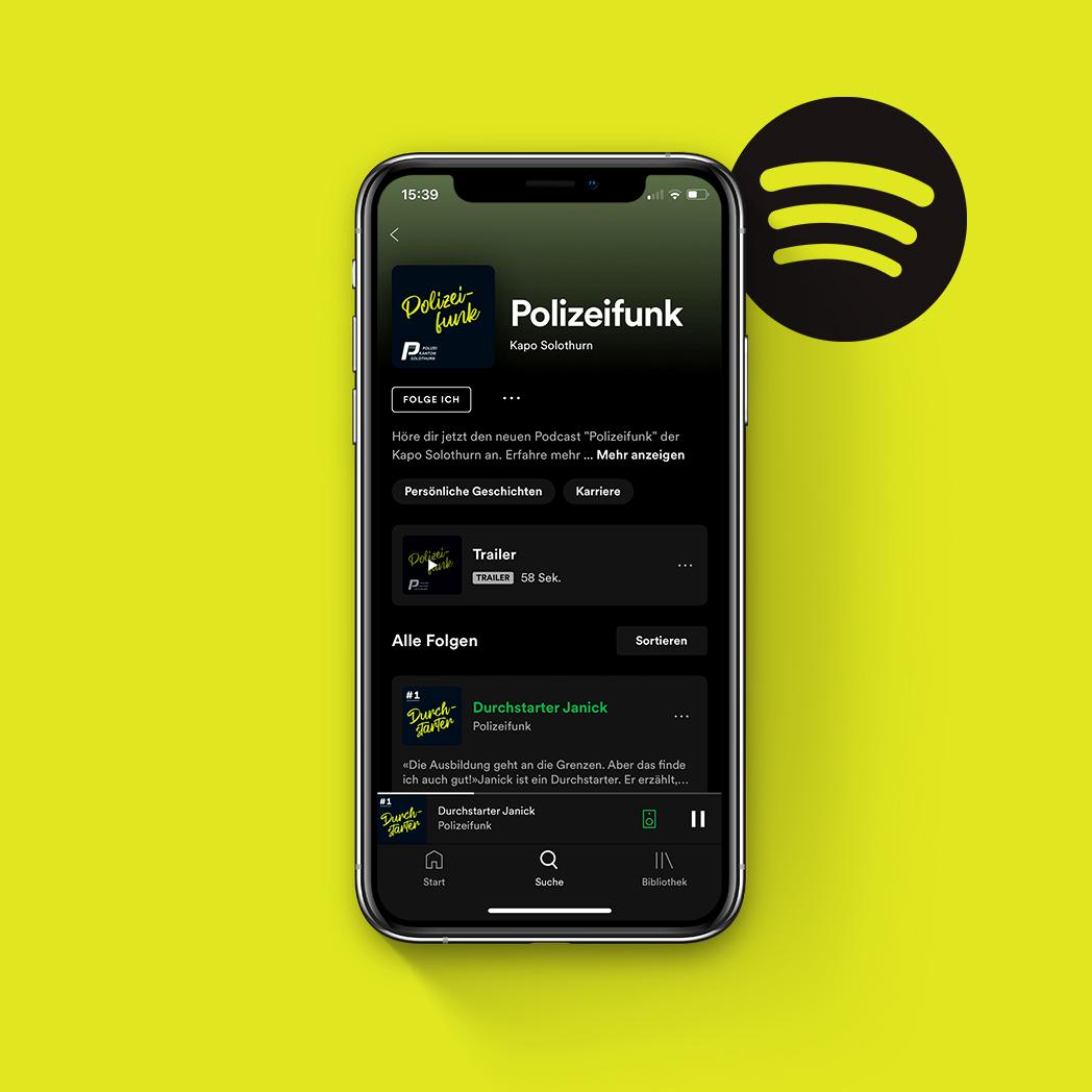 Spotify Podcast Kantonspolizei Solothurn