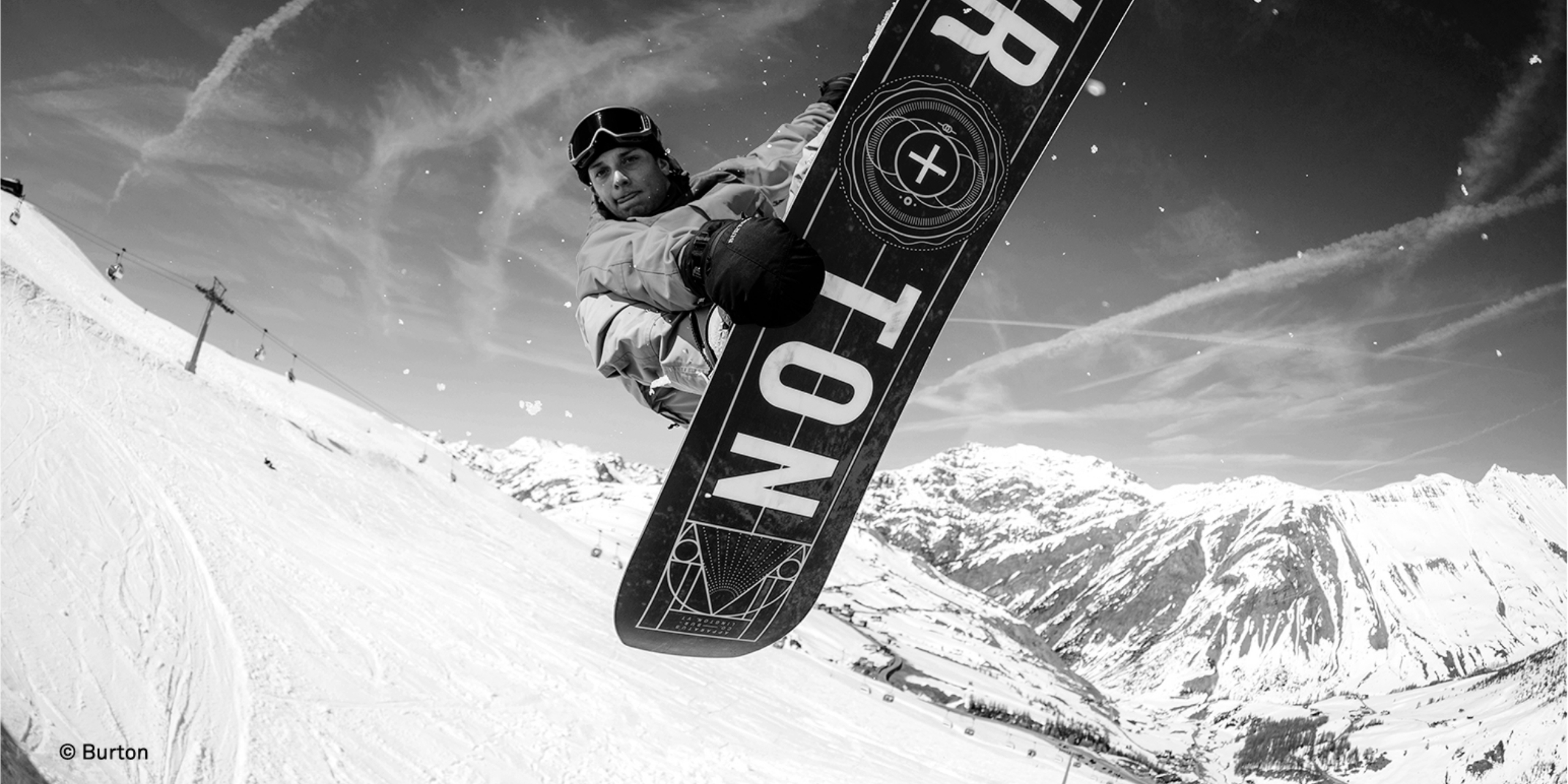 Snowboard in einem Stunt