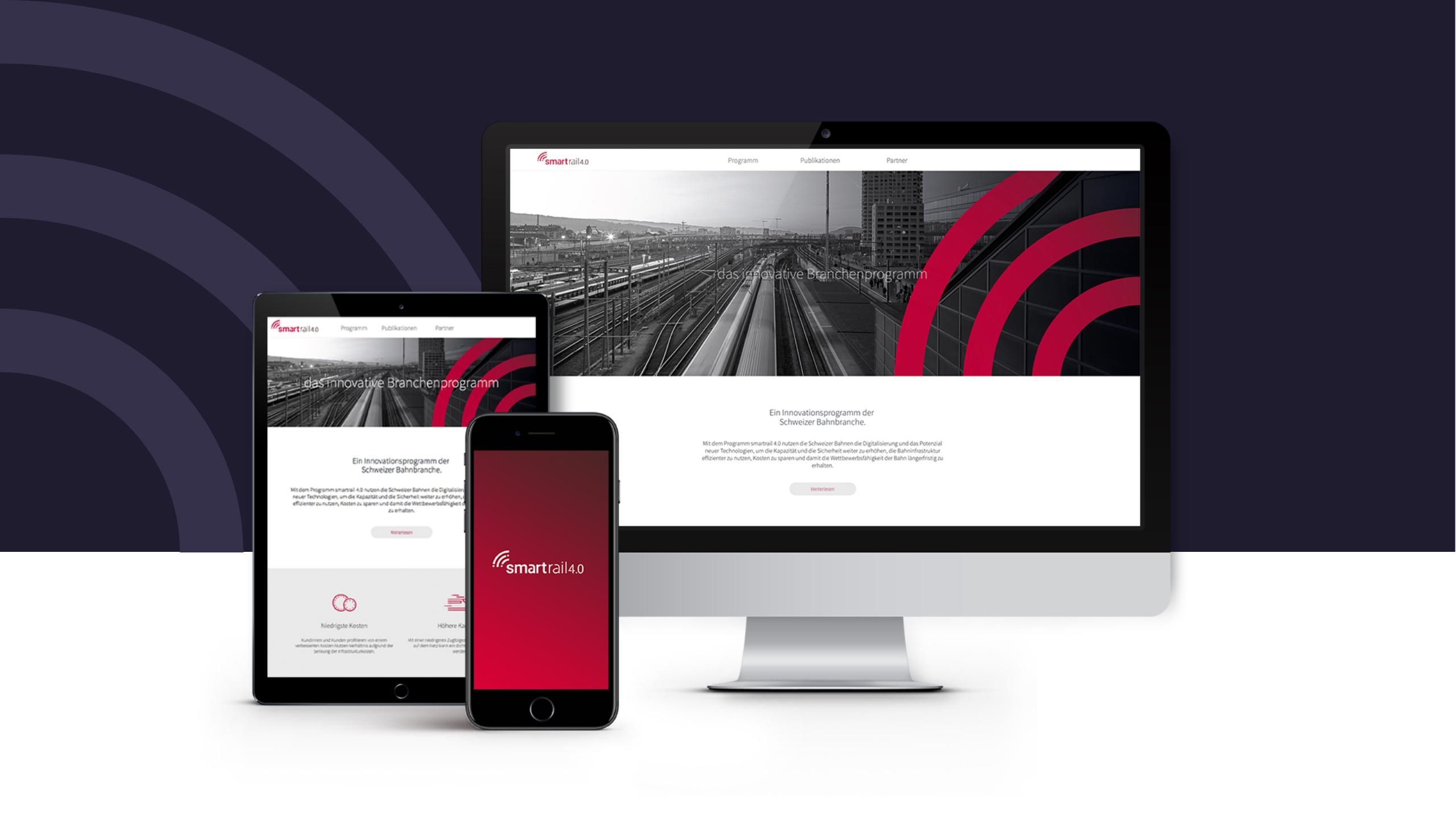 Website auf iMac, iPad und Smartphone