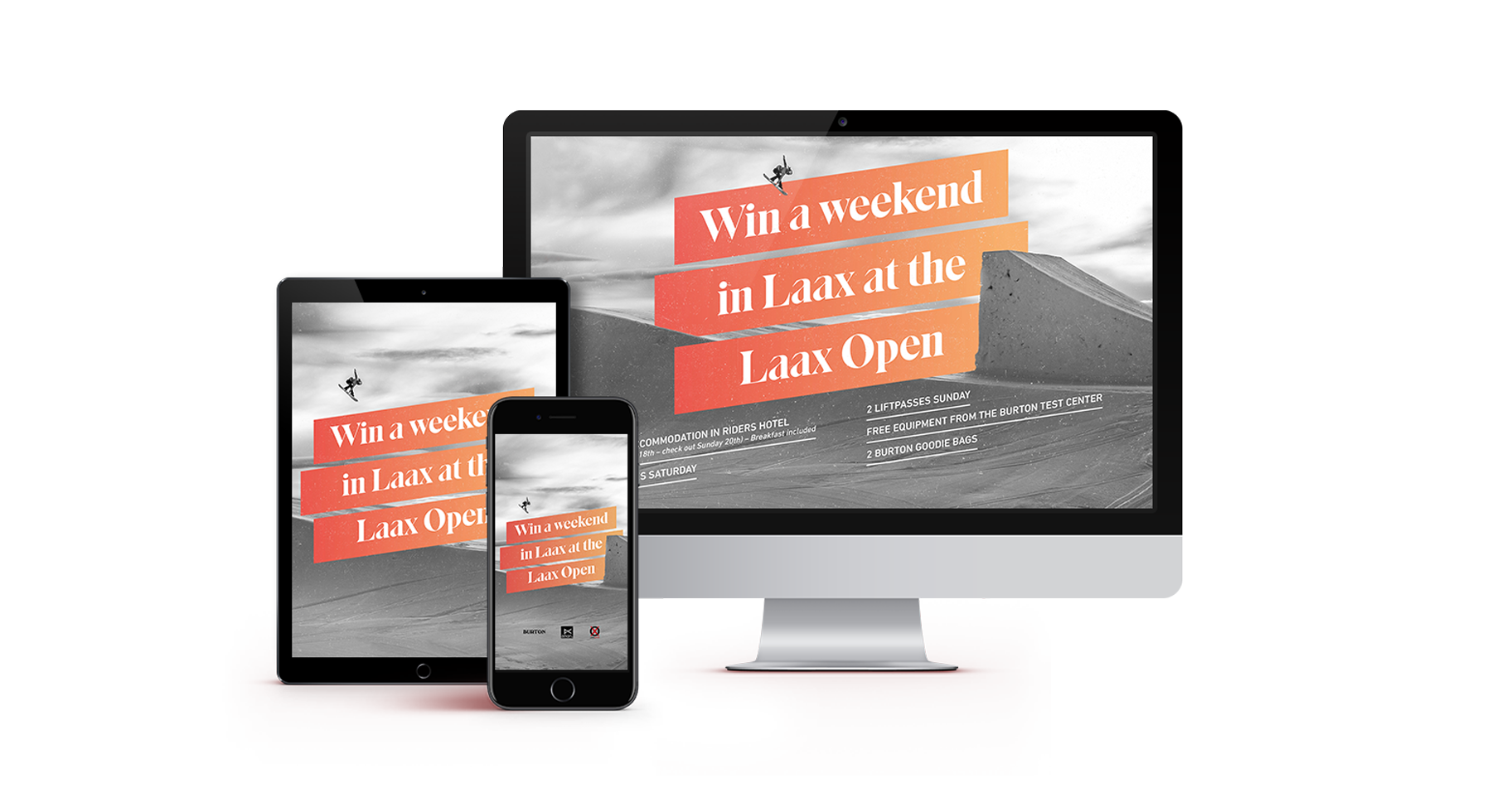 Website auf Mac, iPad und Smartphone