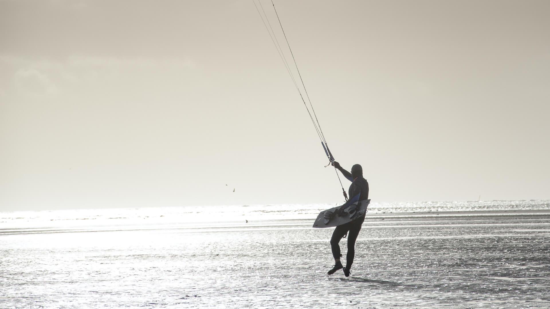 Schwarzweissbild vom Strand