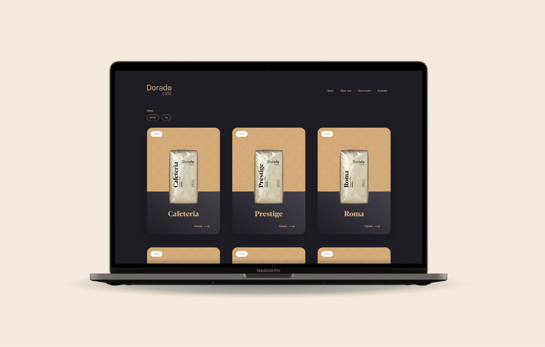 Webseite Dorado Café