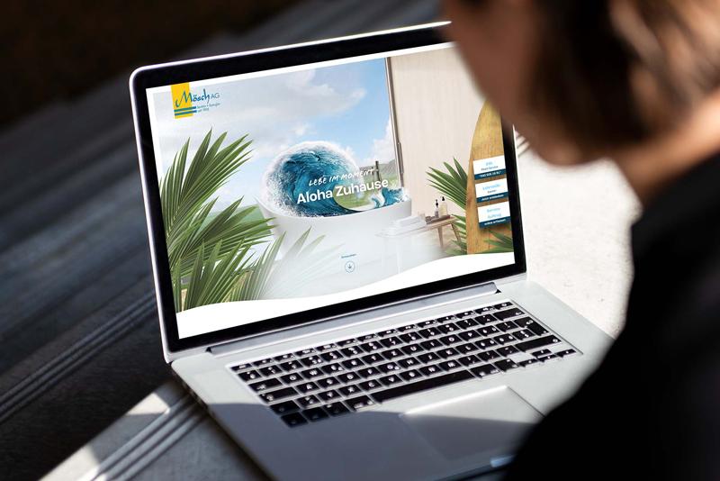 Aloha! Dynamischer Online-Auftritt für Mösch AG