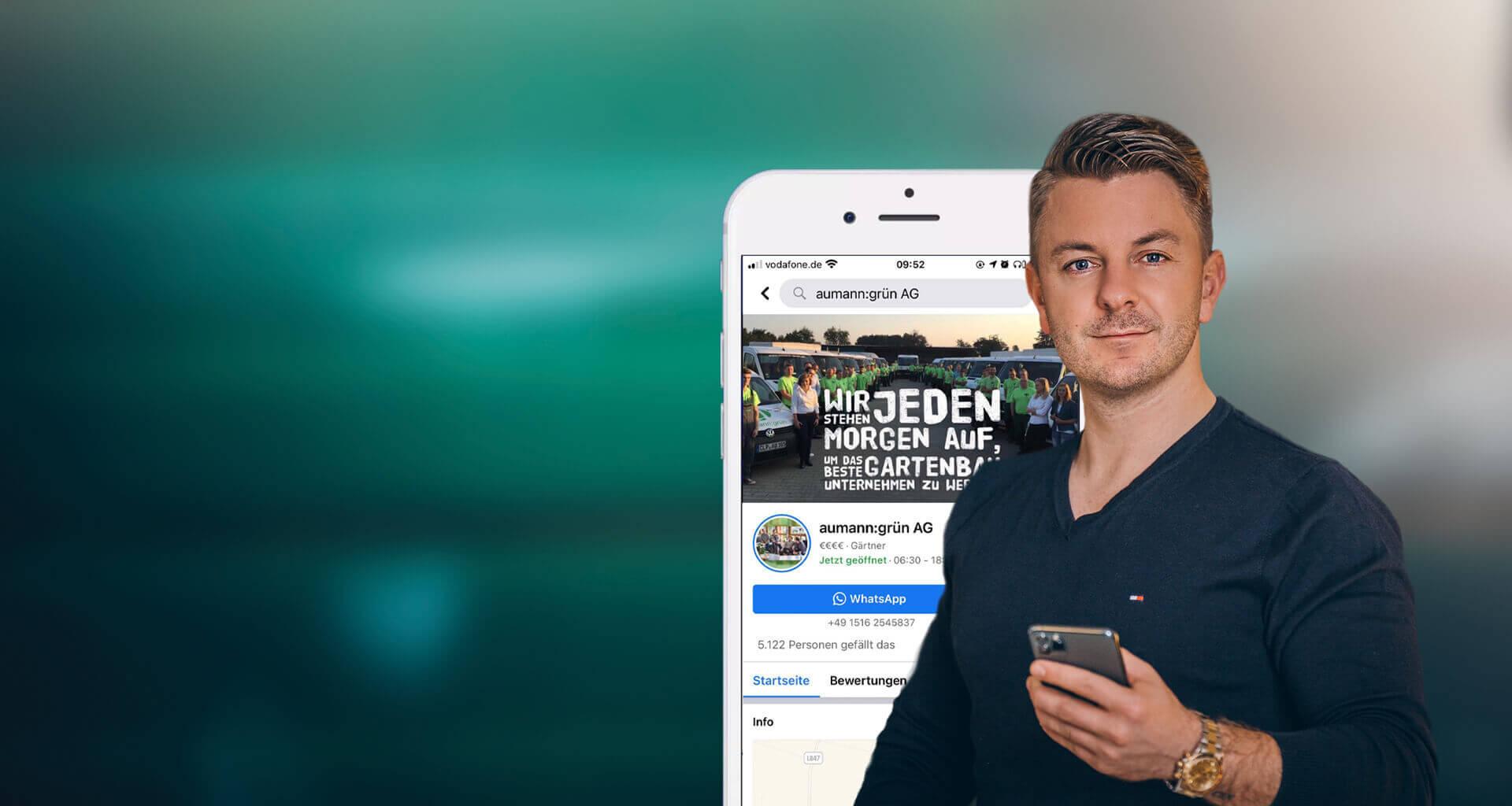 Matthias Aumann Social Media vor dem aumann:grün AG Facebook Account