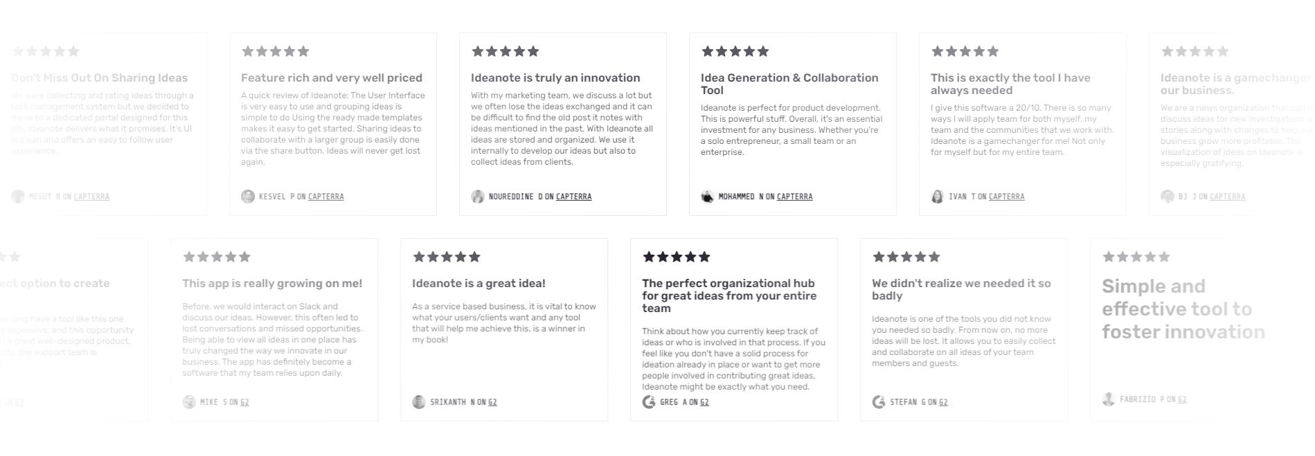 ideanote customer reviews