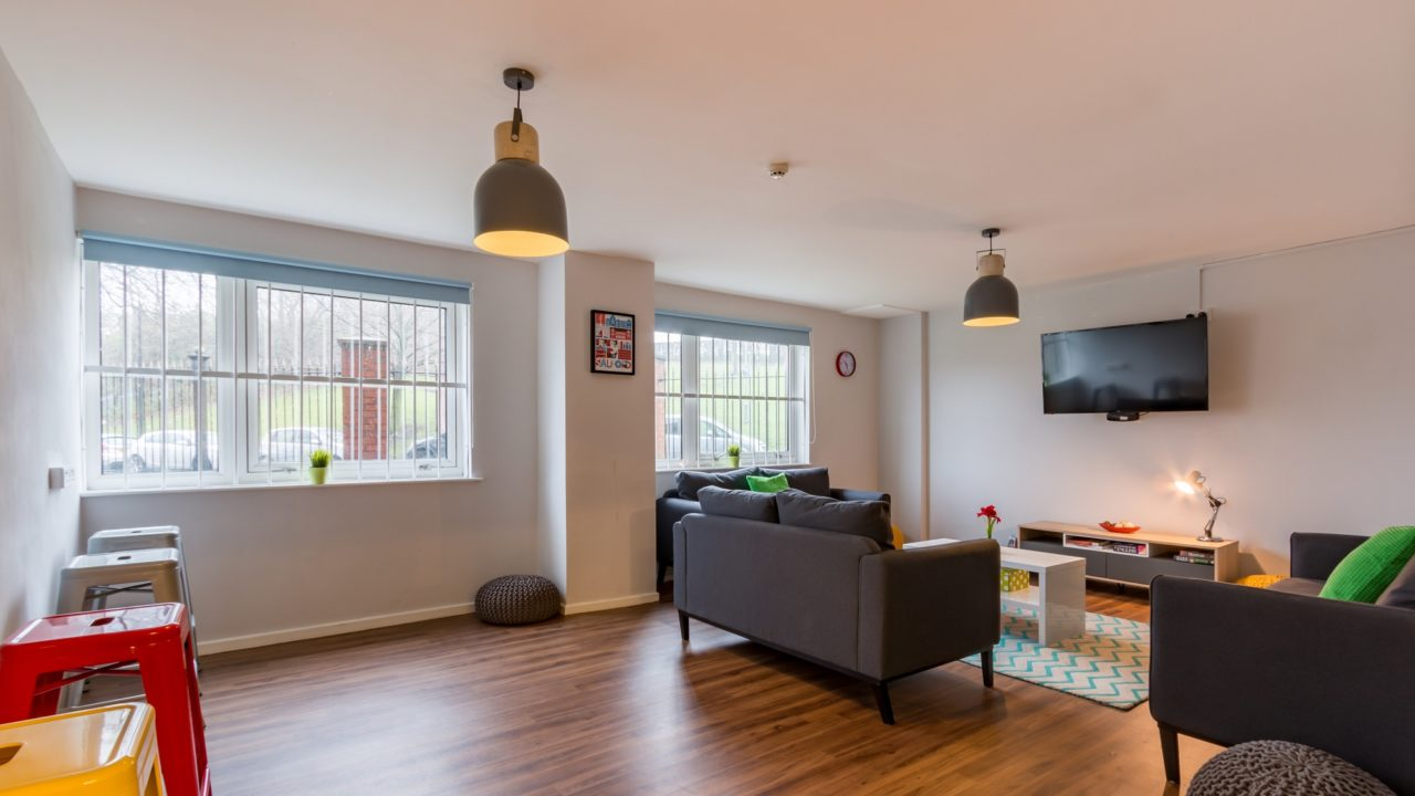 Communal space at Bramall Court