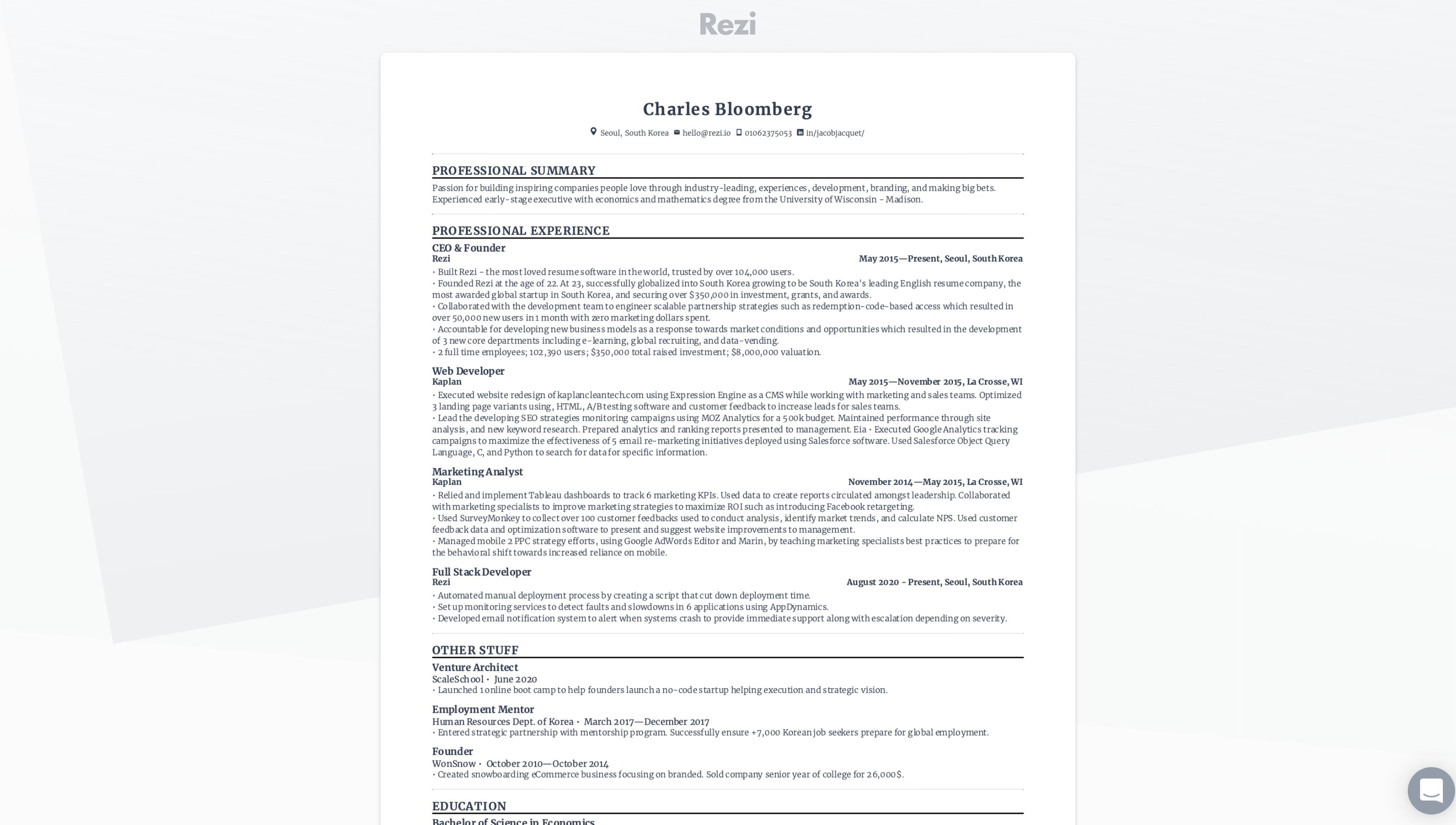 Resume Link Sharing