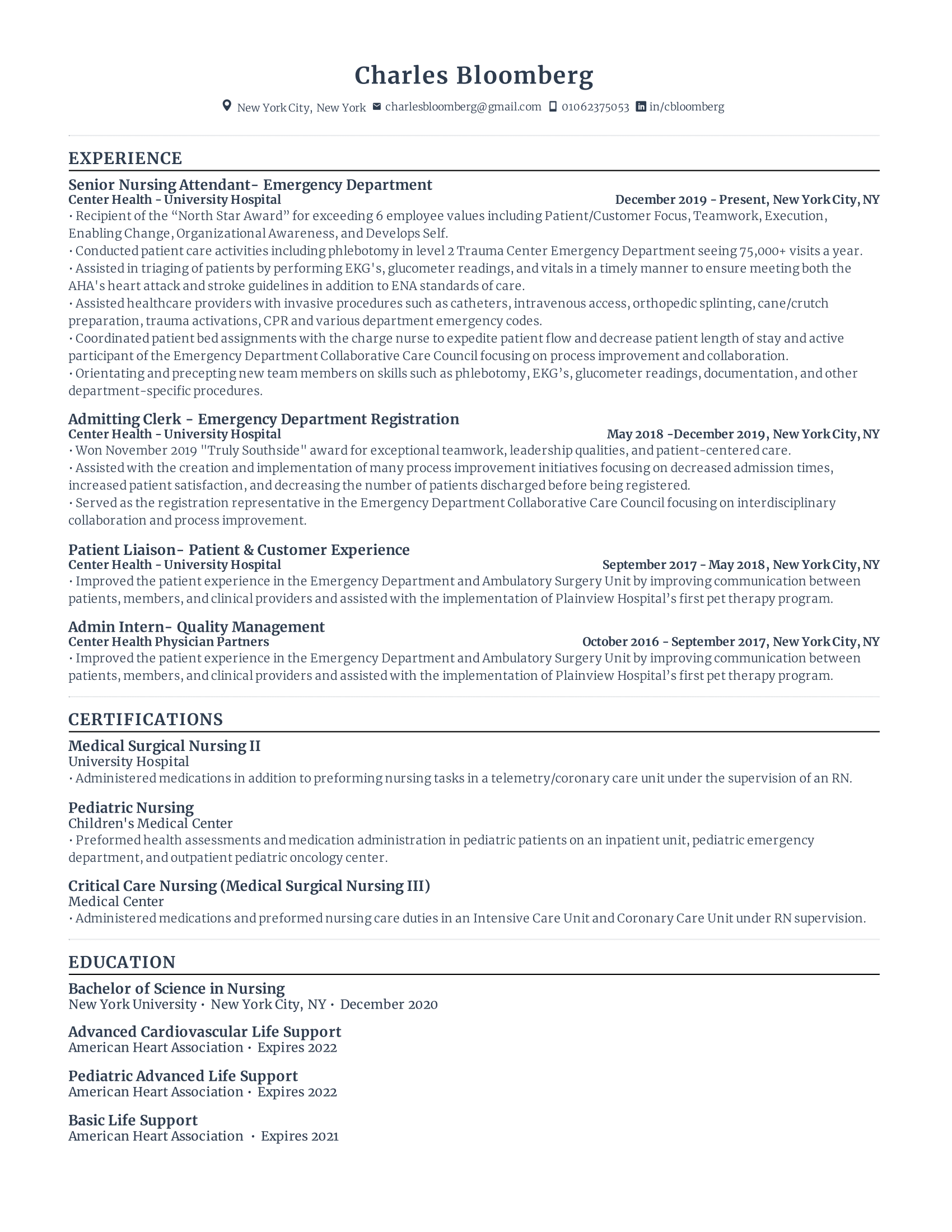 Nurse Resume