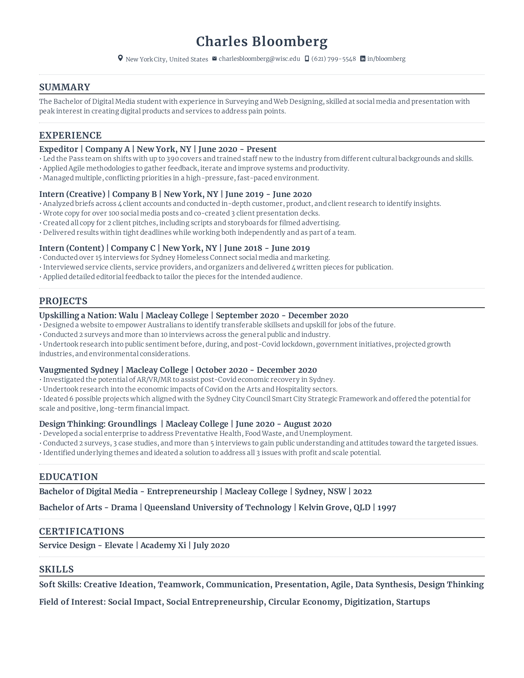 Assistant policy Intern