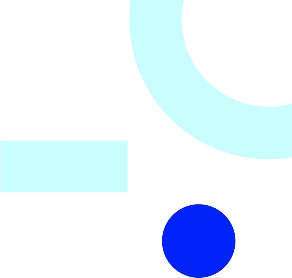 Miscellaneous blue shapes.
