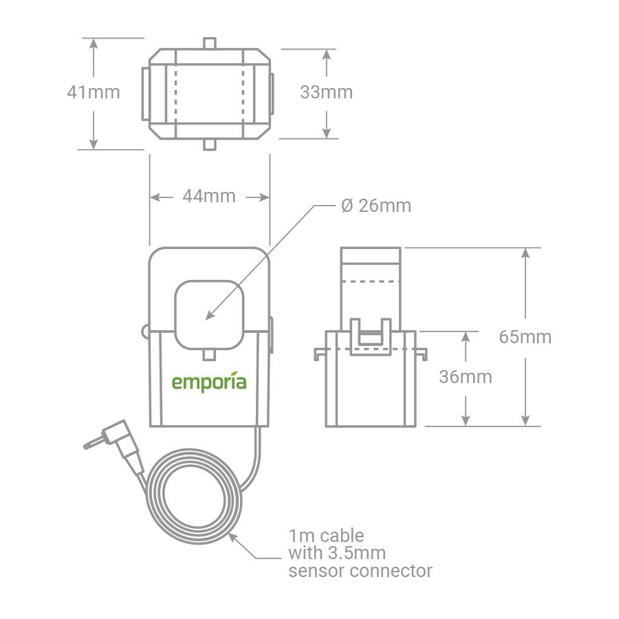 Emporia Gen 2 200A Current Sensor