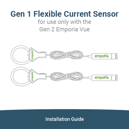 Gen 1 Flexible Current Sensor Installation GUide