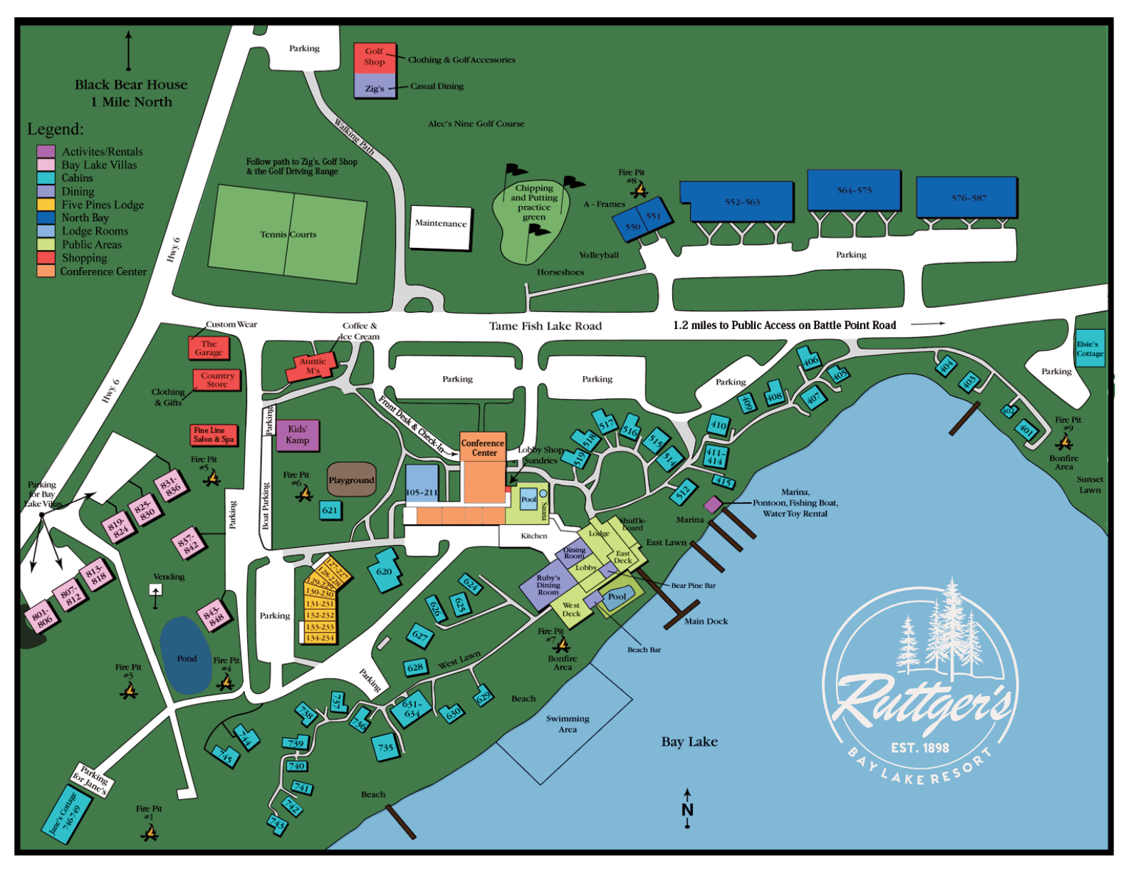 Ruttger's Resort Map